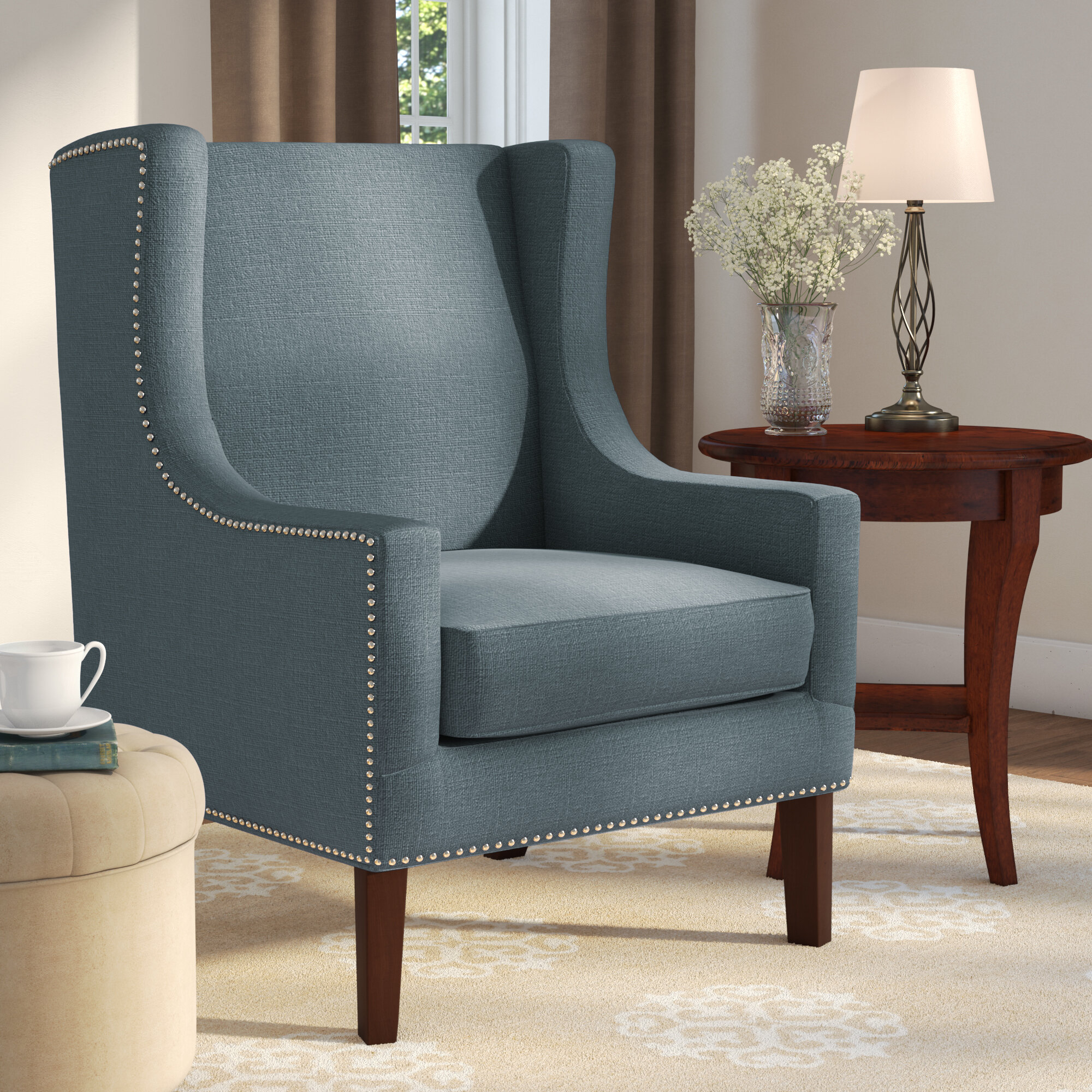 Blue Wingback Accent Chairs You'Ll Love In 2021 | Wayfair Regarding Chagnon Wingback Chairs (View 8 of 15)