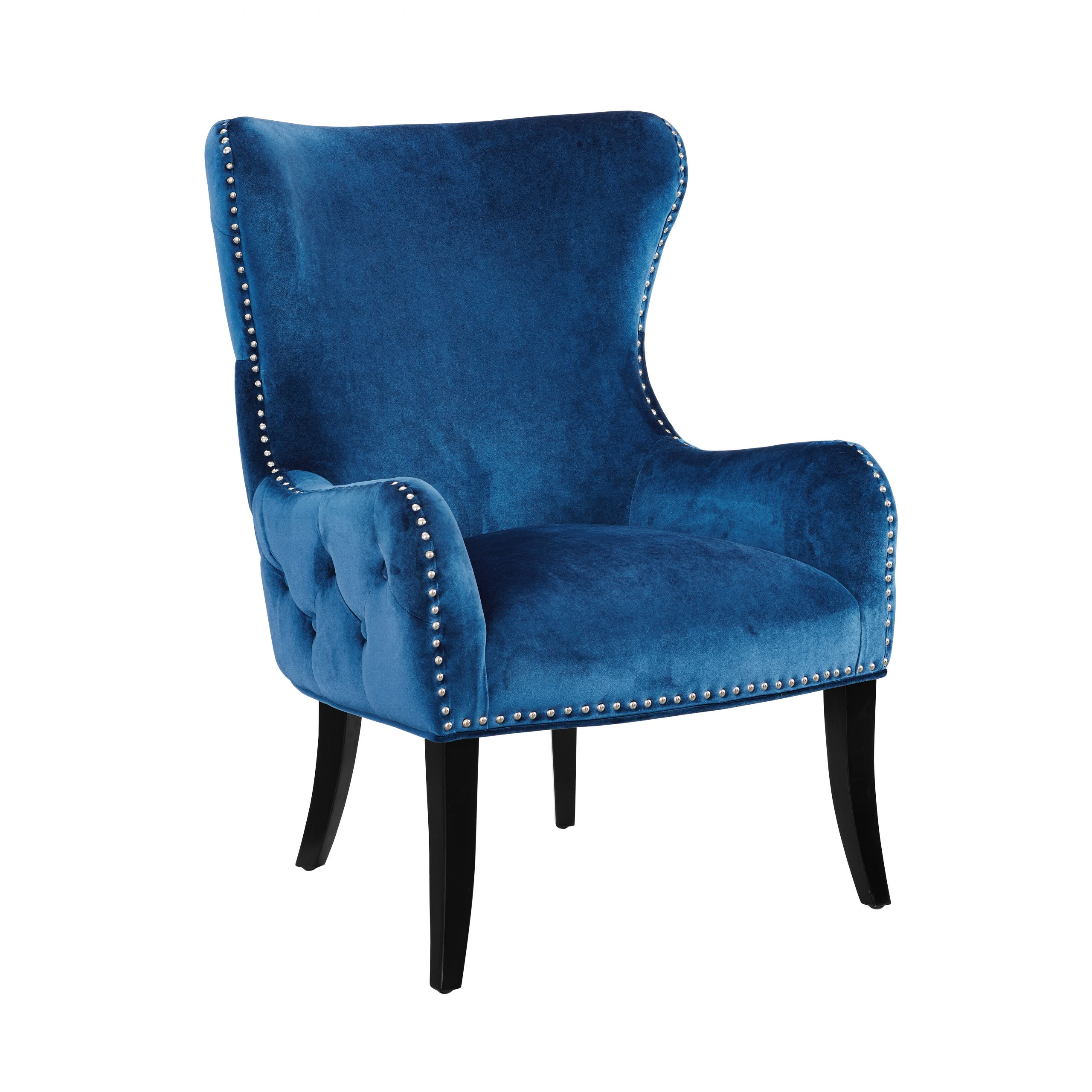 Blue Wingback Accent Chairs You'Ll Love In 2021 | Wayfair With Busti Wingback Chairs (View 13 of 15)