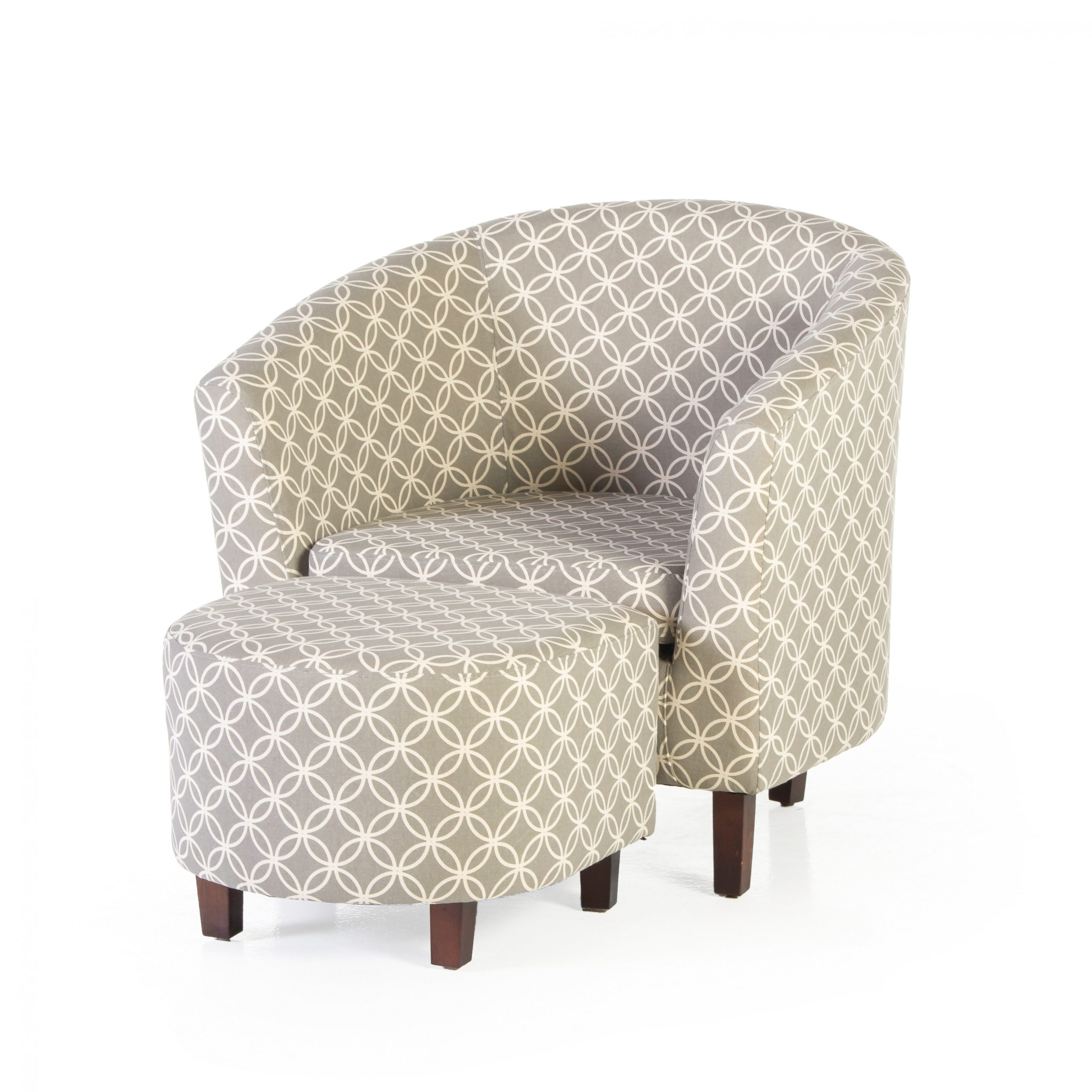 Featured Image of Brames Barrel Chair And Ottoman Sets