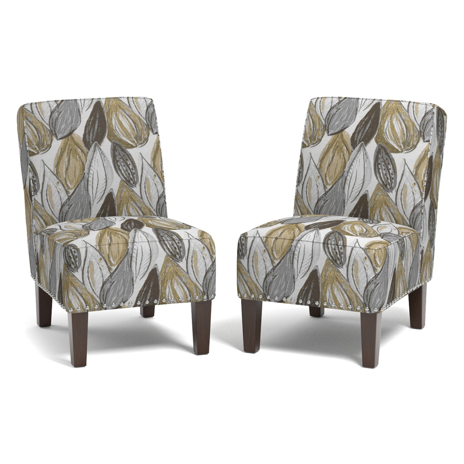 Brodee Armless Chair, Multiple Colors, Set Of 2 – Walmart Within Goodyear Slipper Chairs (View 10 of 15)