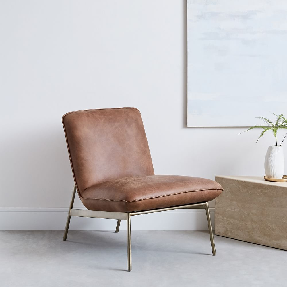 Brooks Slipper Chair #Colorfulchairs | Leather Lounge Chair With Regard To Broadus Genuine Leather Suede Side Chairs (View 3 of 15)