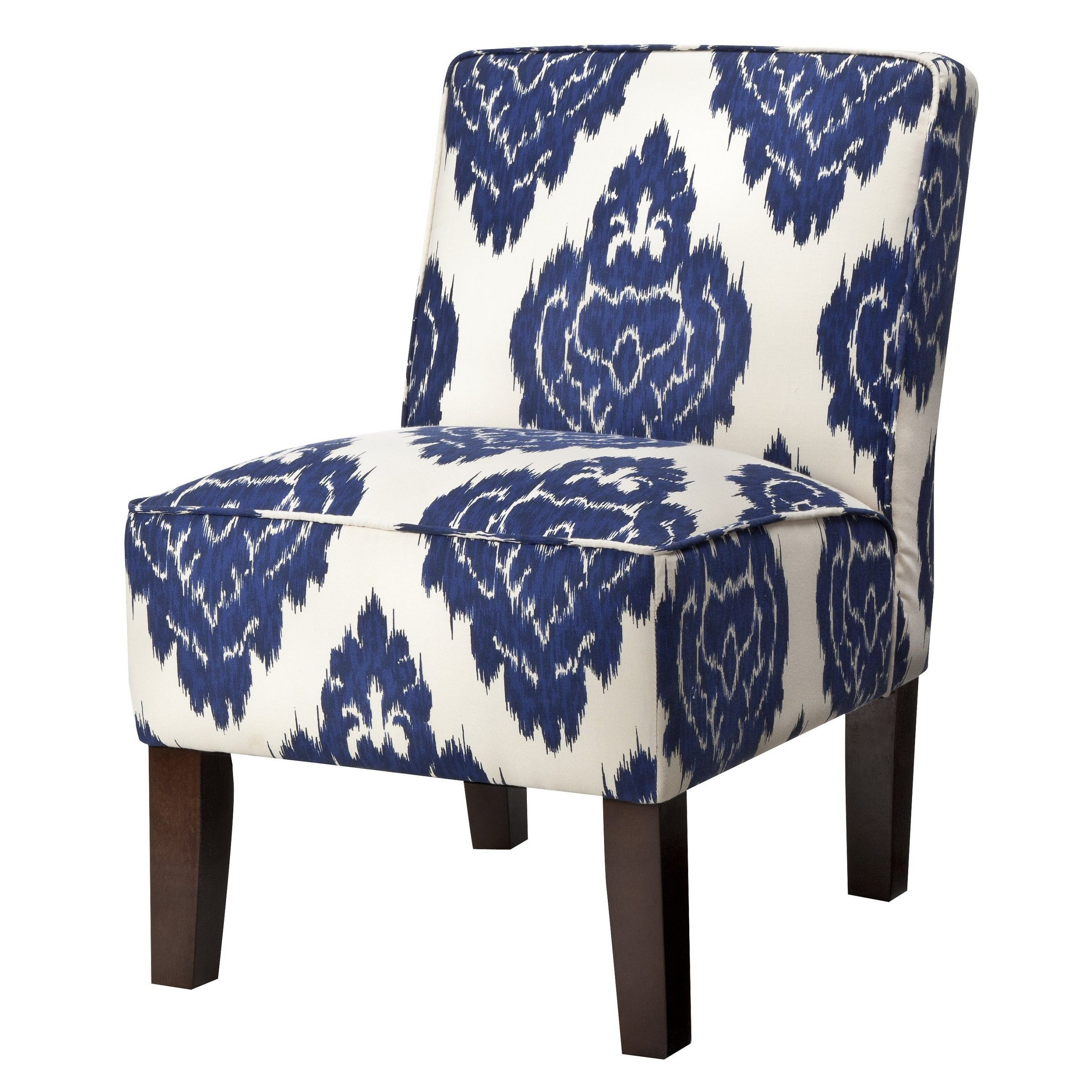 Burke Armless Slipper Chair – Blue Diamonds | Upholstered Inside Armless Upholstered Slipper Chairs (View 5 of 15)