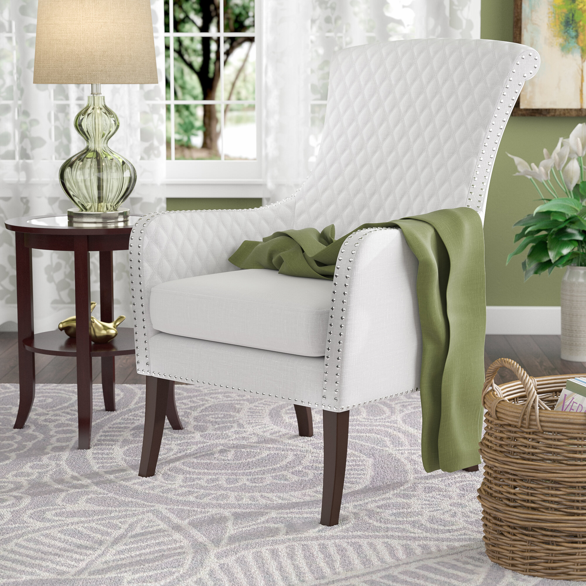 Busti Wingback Chair Pertaining To Busti Wingback Chairs (View 3 of 15)