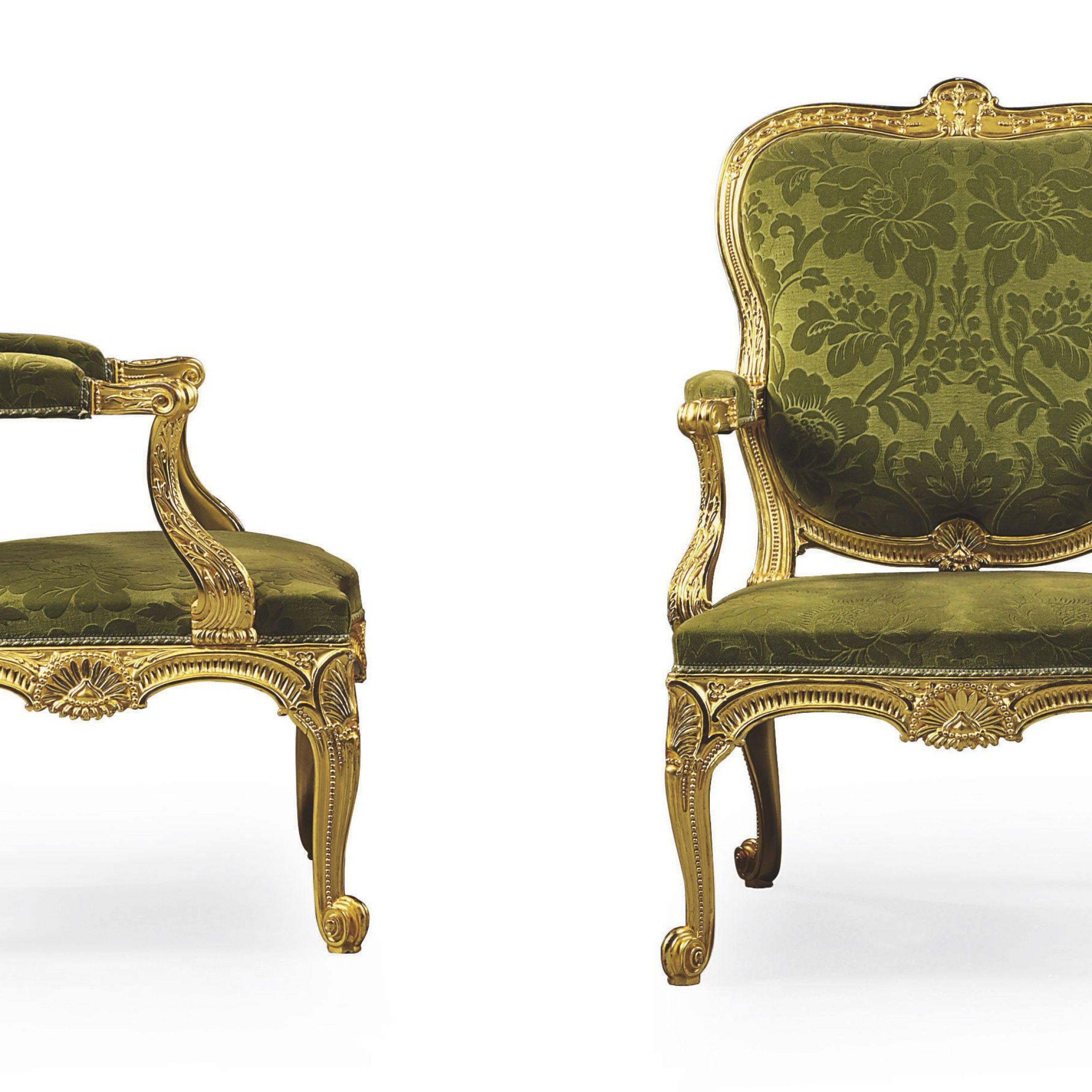 C1758 65 A Pair Of George Ii Giltwood Open Armchairs Almost Within James Armchairs (View 12 of 15)