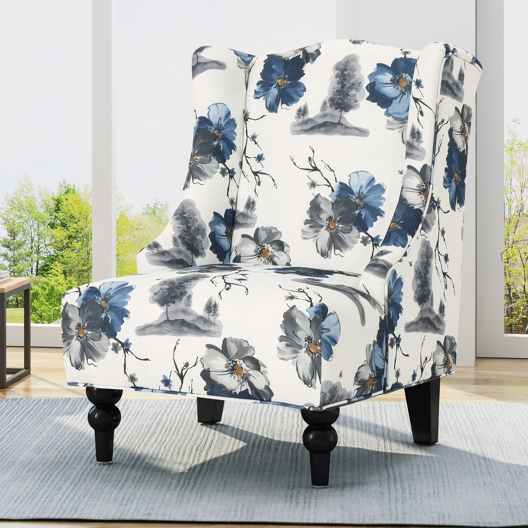 Caitlin Wingback Chair In Andover Wingback Chairs (View 7 of 15)