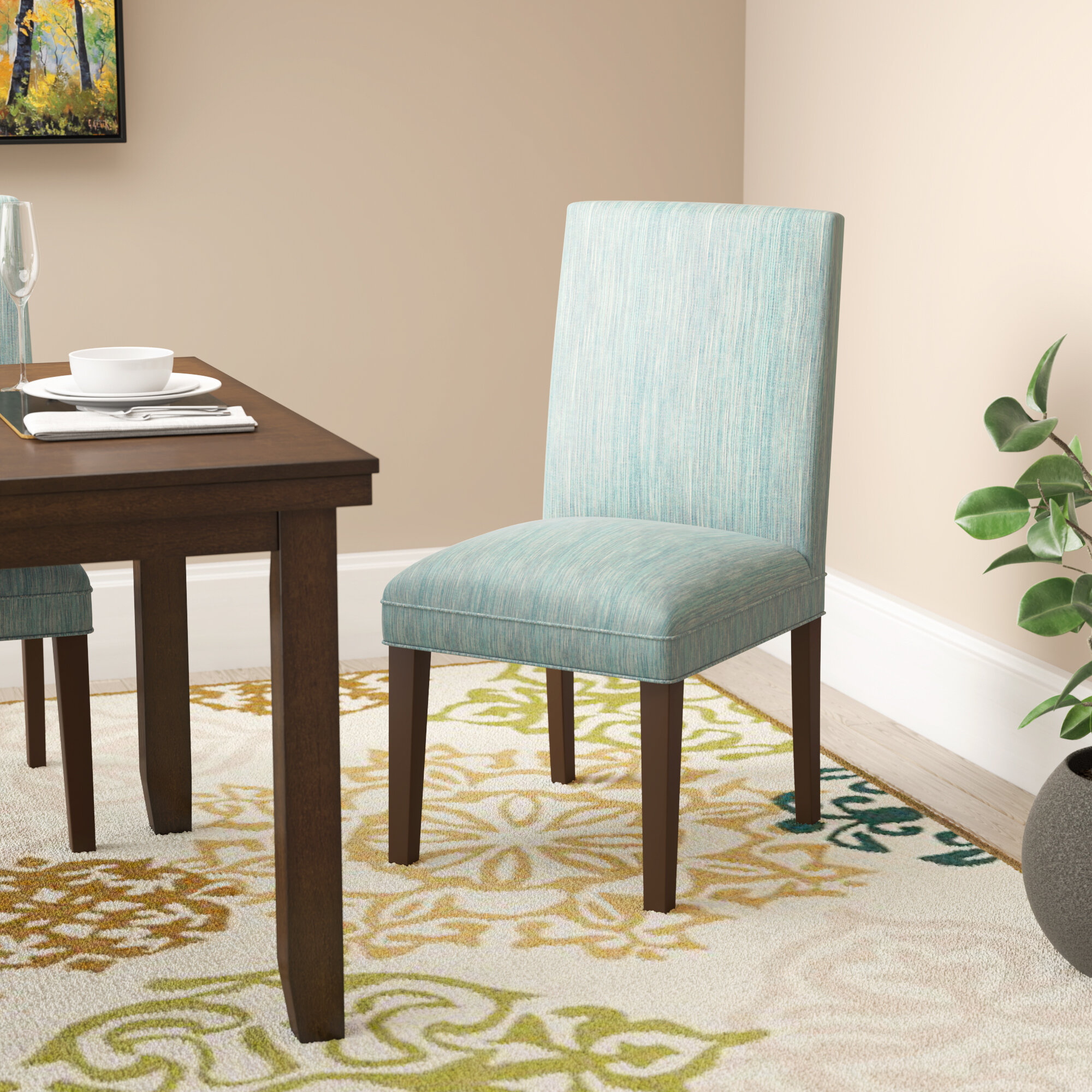 Calahan Parsons Upholstered Dining Chair For Aaliyah Parsons Chairs (View 8 of 15)