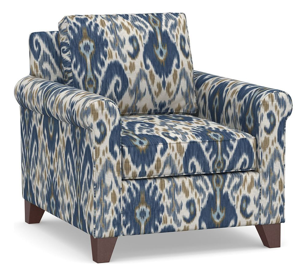 Cameron Roll Arm Upholstered Deep Seat Armchair, Polyester In Hutchinsen Polyester Blend Armchairs (View 3 of 15)