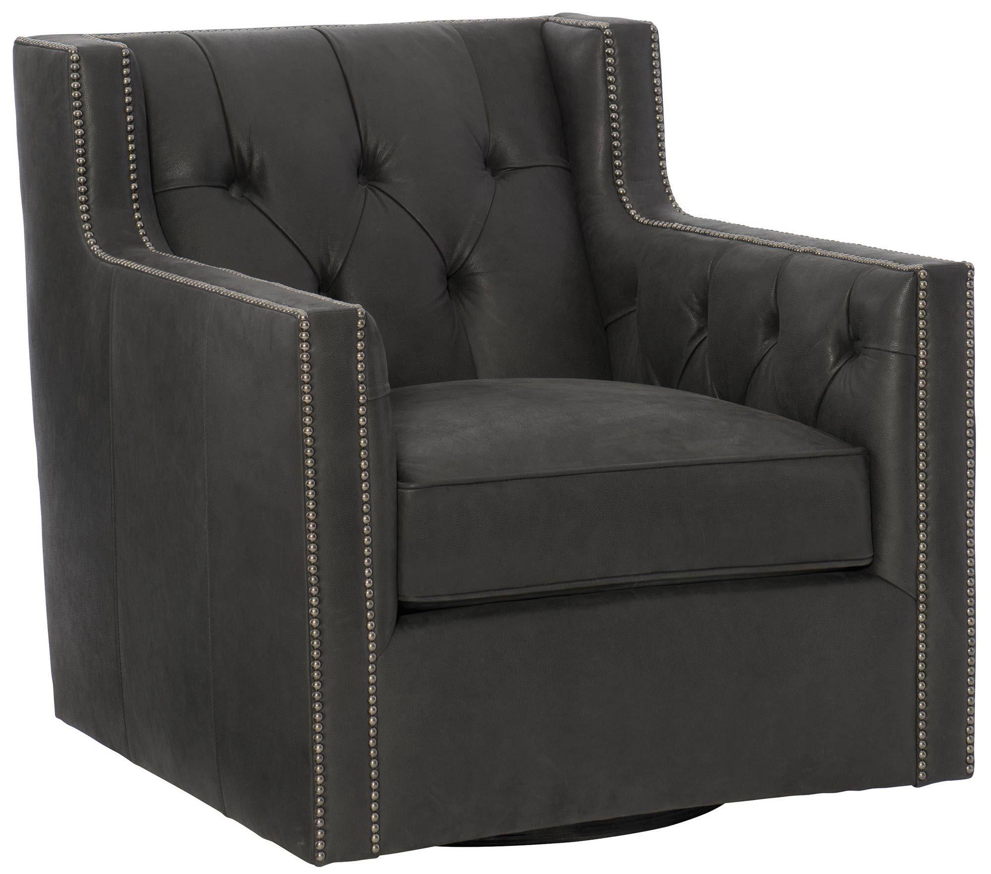 Candice Swivel Chair | Bernhardt Item 727Sl W: 33 1/2 D: 38 In Hazley Faux Leather Swivel Barrel Chairs (View 4 of 15)
