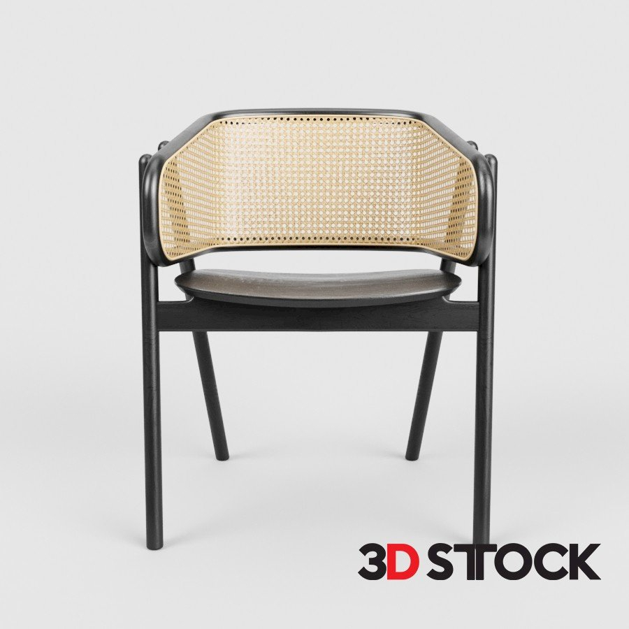 Cane Armchair – 3D Stock : 3D Models For Professionals Inside Popel Armchairs (View 13 of 15)