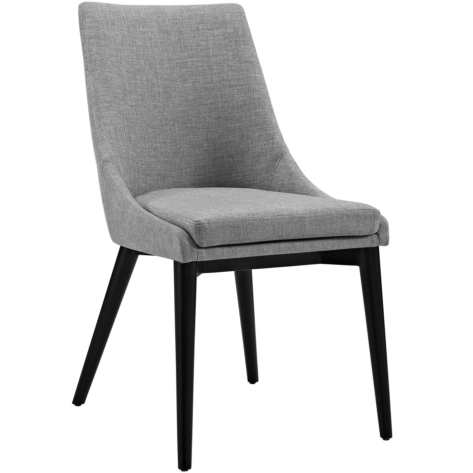Carlton Wood Leg Upholstered Dining Chair With Carlton Wood Leg Upholstered Dining Chairs (View 2 of 15)