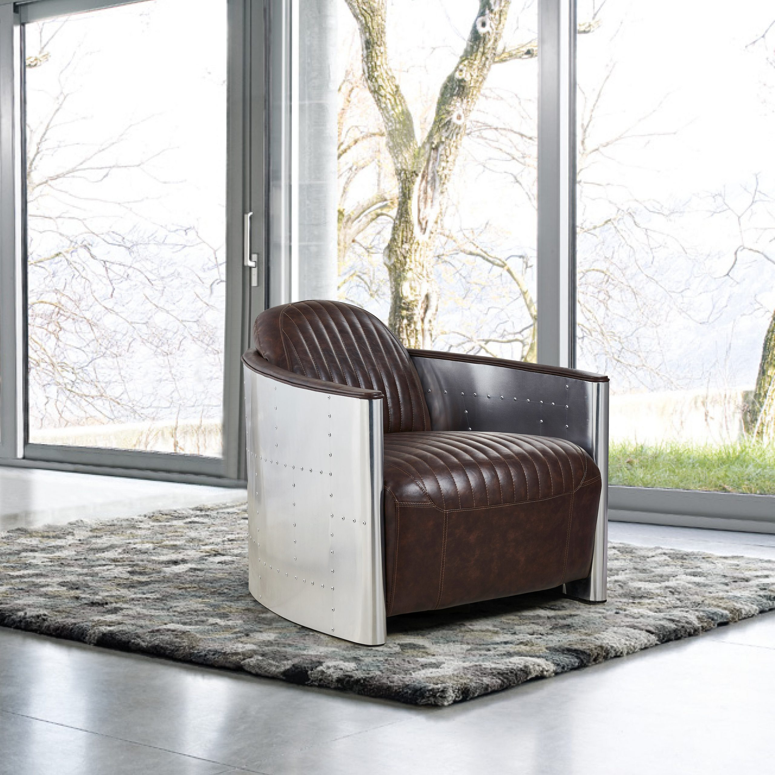"""Cavallo 33"""" W Faux Leather Barrel Chair With Liam Faux Leather Barrel Chairs (View 15 of 15)"""