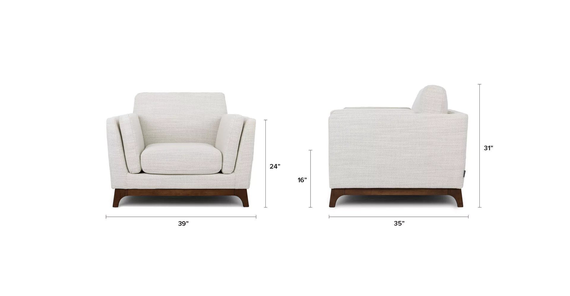 Ceni Fresh White Armchair – Article Throughout Haleigh Armchairs (View 10 of 15)