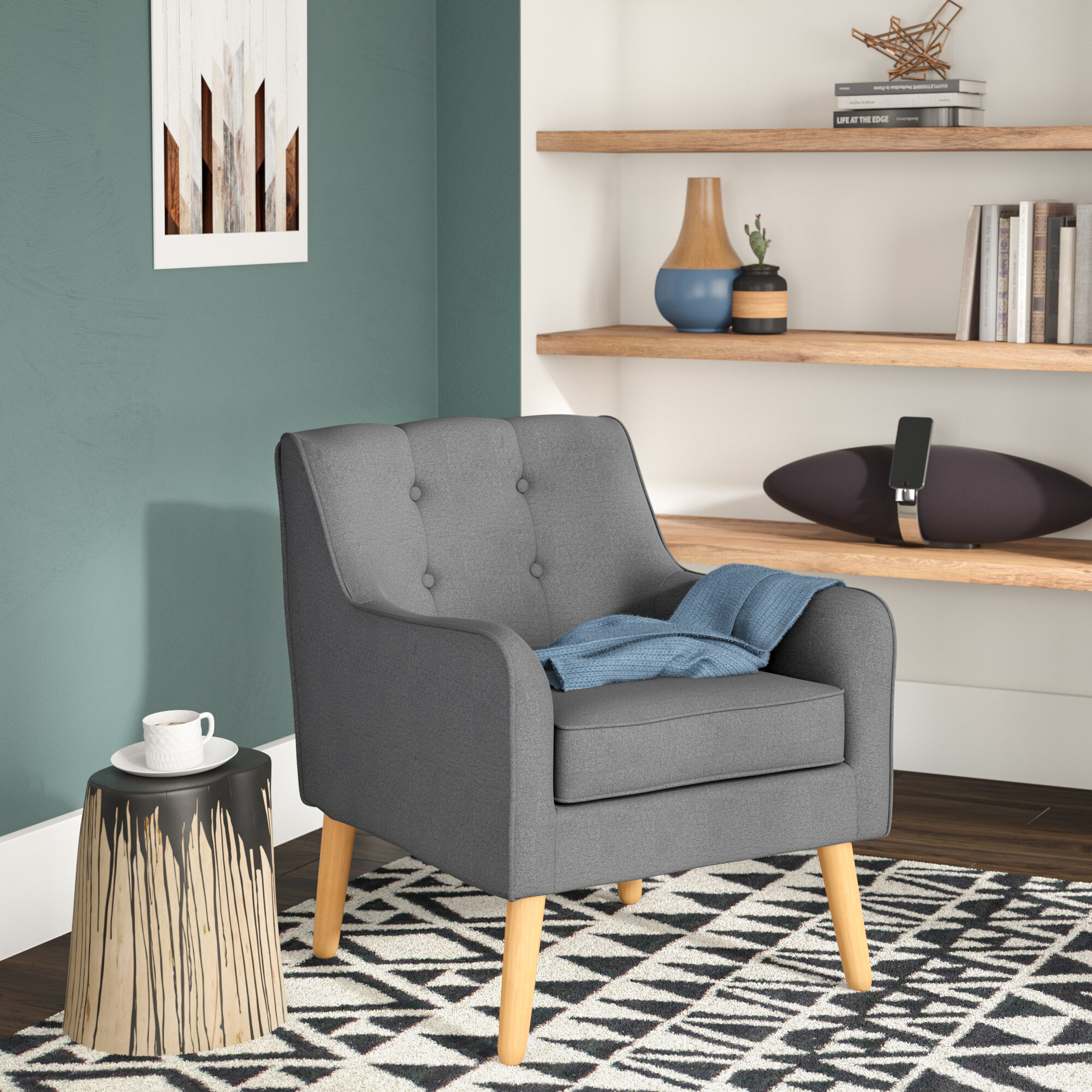 Chair Set Grey Accent Chairs You'Ll Love In 2021 | Wayfair In Bethine Polyester Armchairs (Set Of 2) (View 11 of 15)