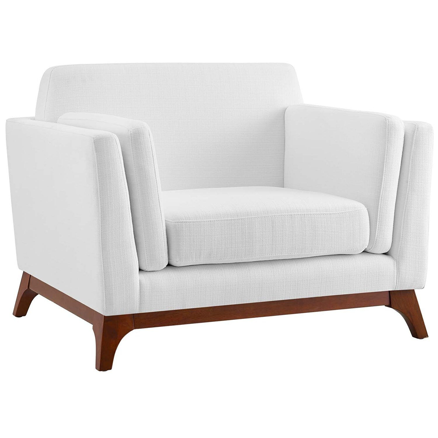 Chance White Chair Eei 3063 Whi Modway Furniture Chairs In For Belz Tufted Polyester Armchairs (View 14 of 15)