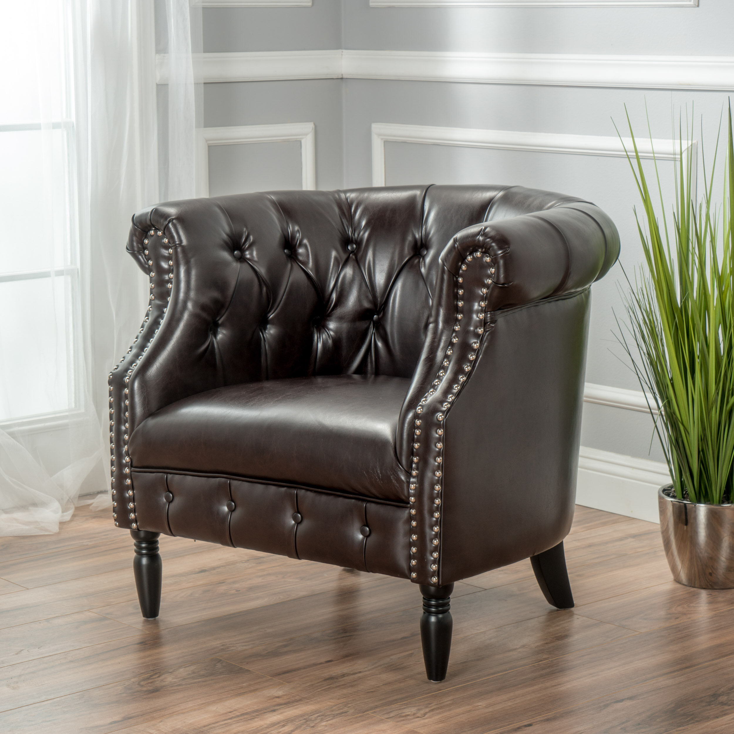 Chesterfield Accent Chairs You'Ll Love In 2021 | Wayfair Pertaining To Starks Tufted Fabric Chesterfield Chair And Ottoman Sets (View 3 of 15)