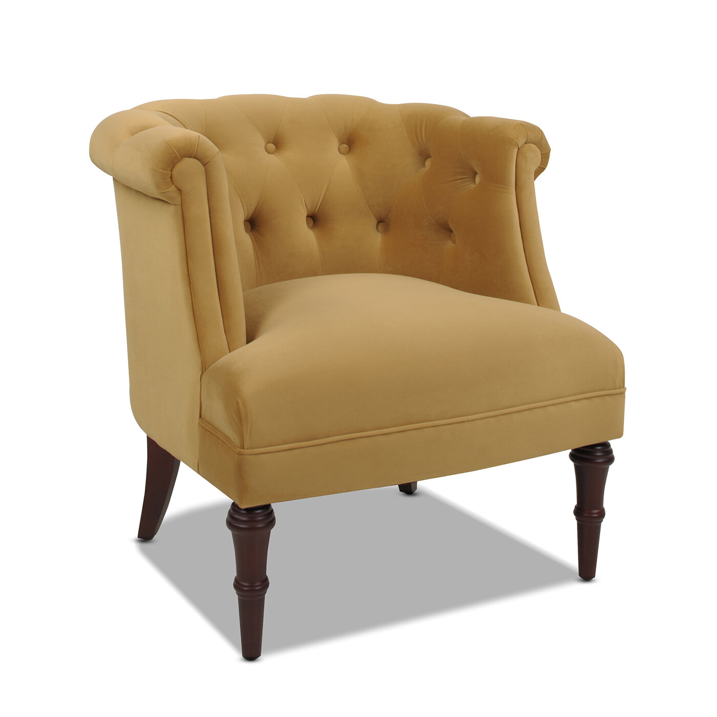 Chesterfield Accent Chairs You'Ll Love In 2021 | Wayfair Regarding Starks Tufted Fabric Chesterfield Chair And Ottoman Sets (View 7 of 15)