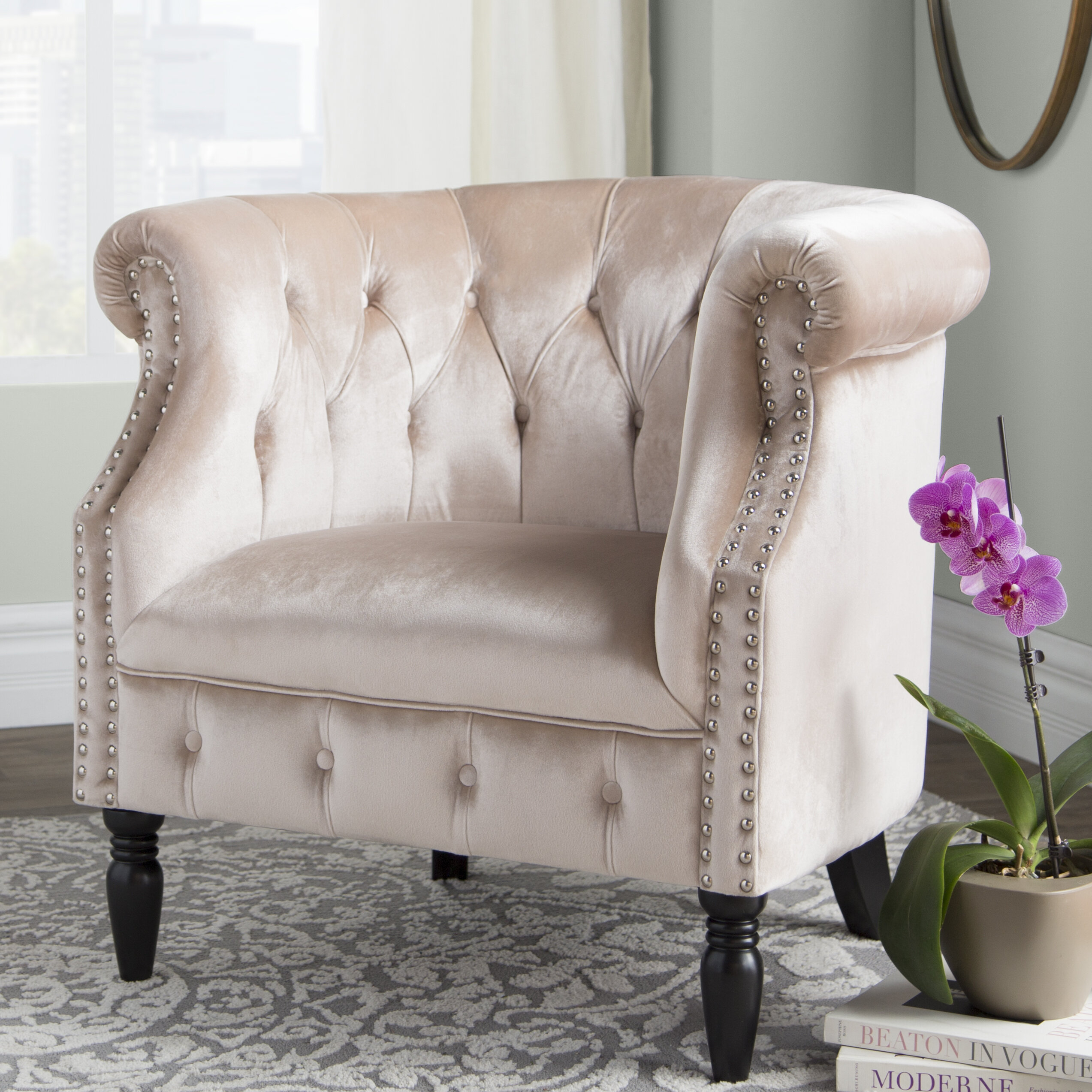Chesterfield Accent Chairs You'Ll Love In 2021 | Wayfair With Kjellfrid Chesterfield Chairs (View 15 of 15)