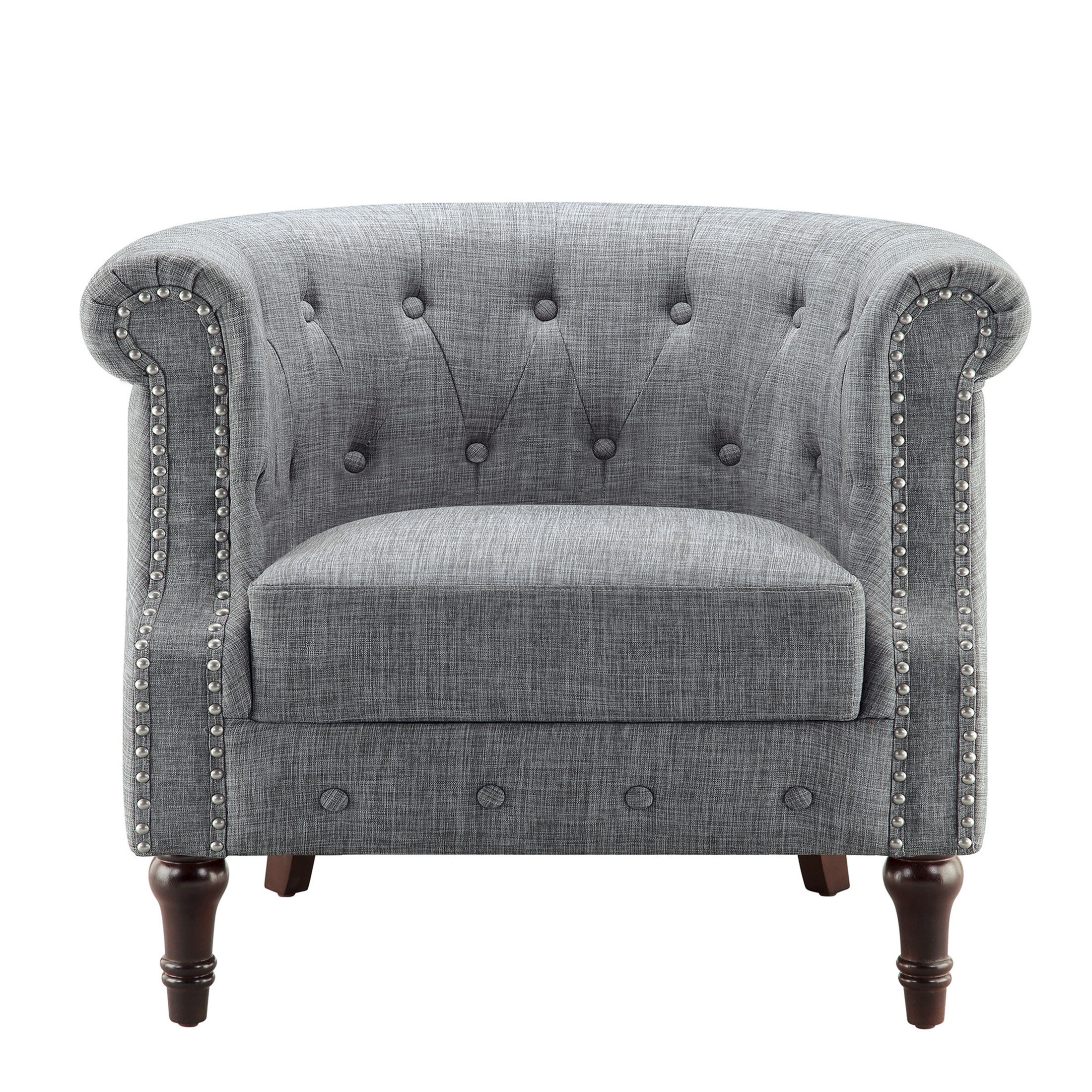 Chesterfield Espresso Wood Accent Chairs You'Ll Love In 2021 In Kjellfrid Chesterfield Chairs (View 11 of 15)