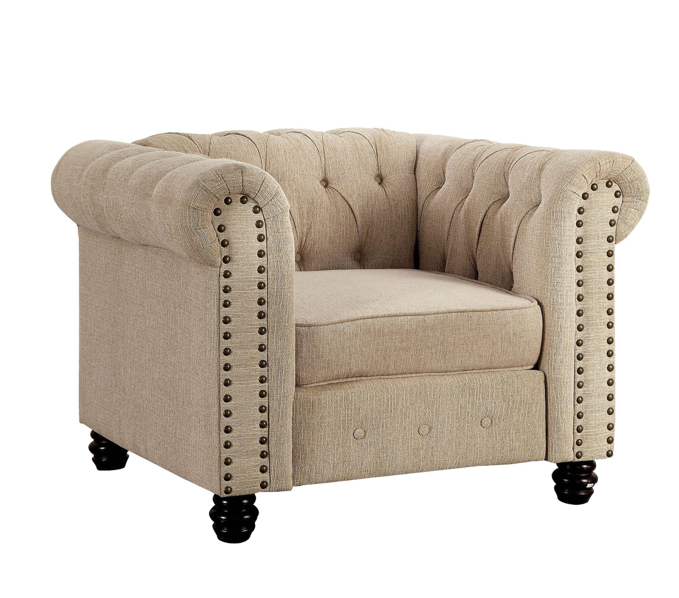 Chesterfield Espresso Wood Accent Chairs You'Ll Love In 2021 Pertaining To Kjellfrid Chesterfield Chairs (View 9 of 15)