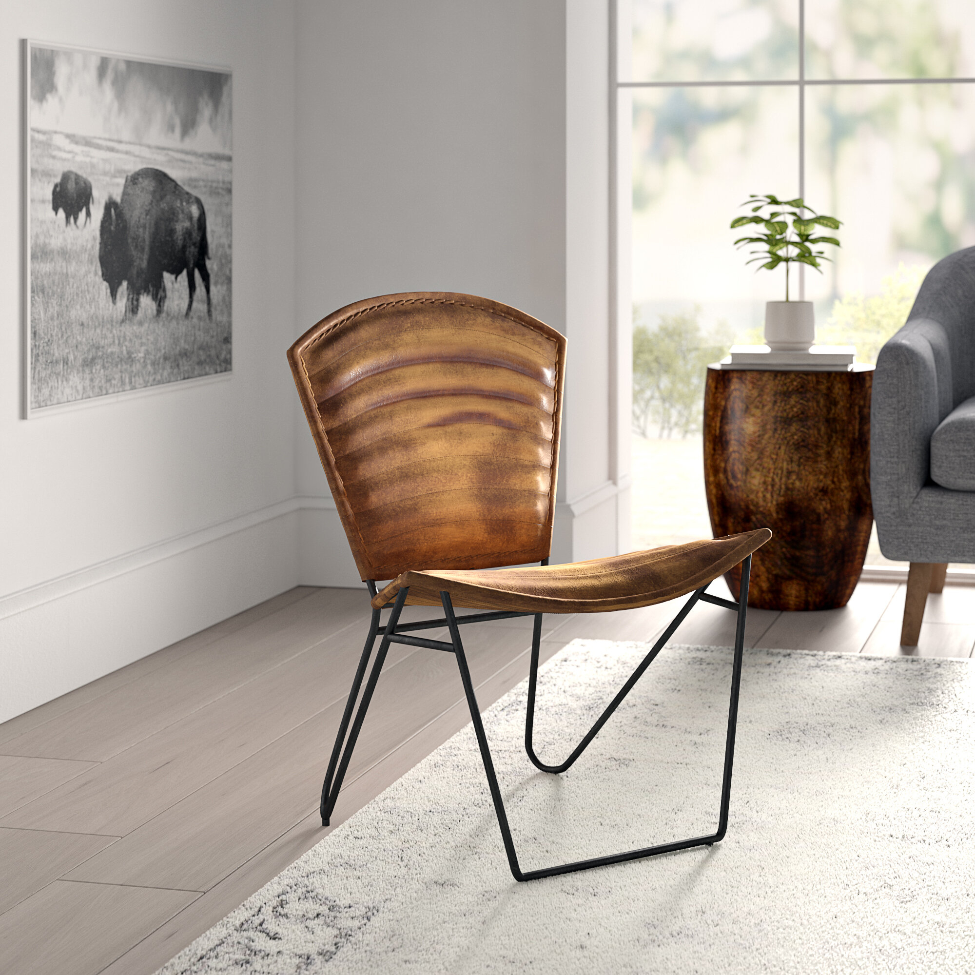 Chevalier Side Chair In Broadus Genuine Leather Suede Side Chairs (View 15 of 15)