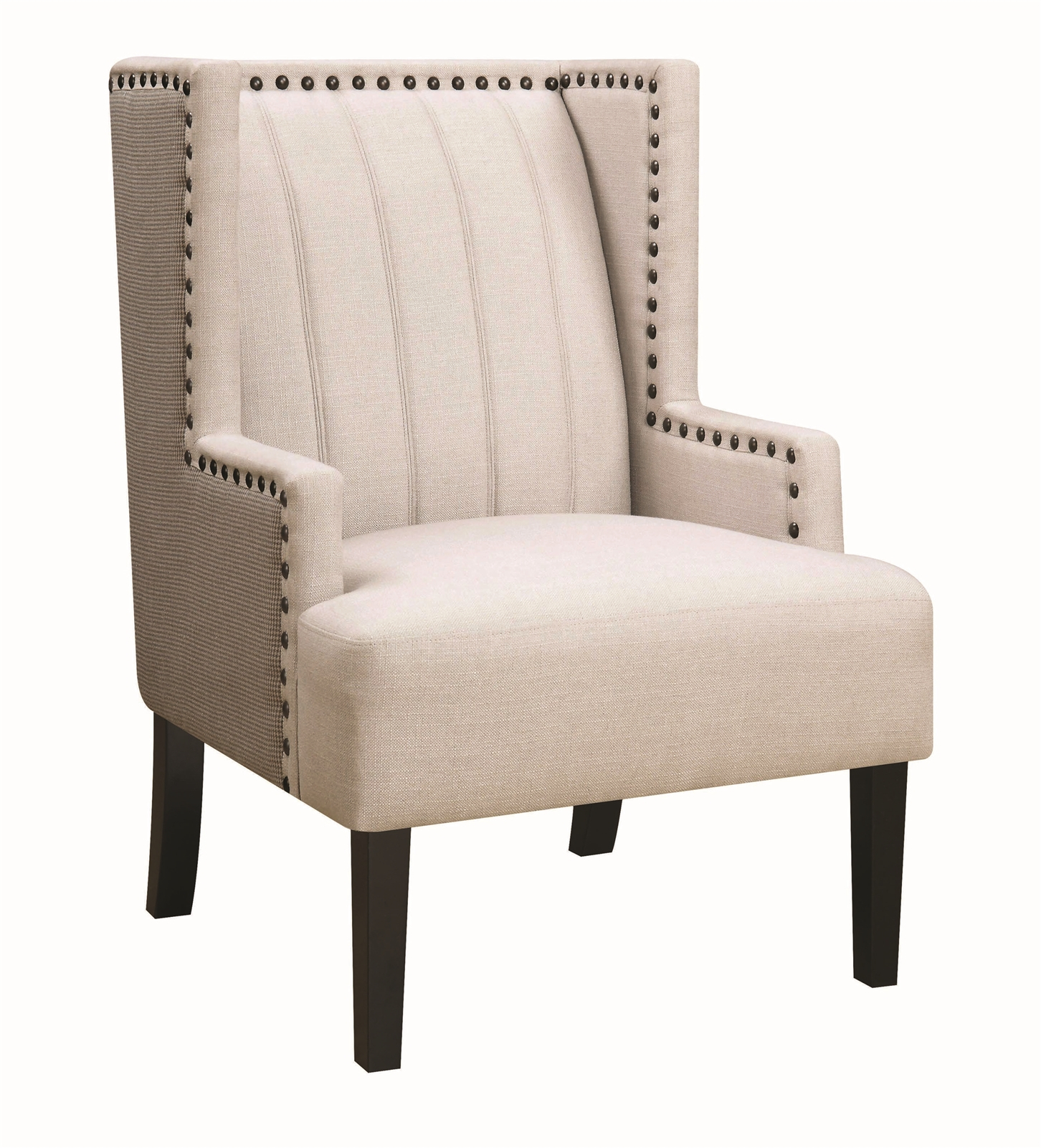 Chile Cream & Gray Linen Accent Chair Within Chiles Linen Side Chairs (View 3 of 15)