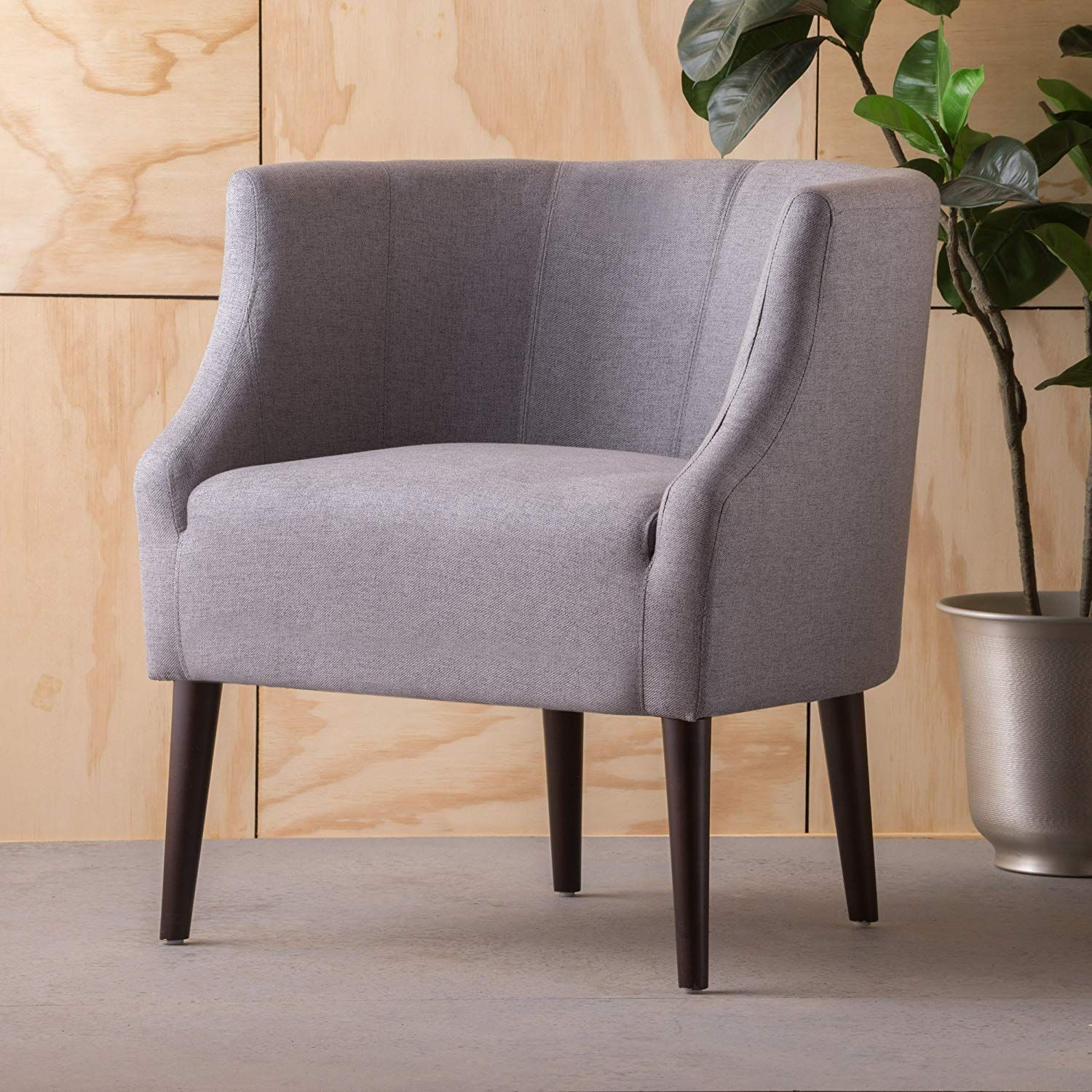 Christopher Knight Home 300285 Sonnet Arm Chair, Grey In With Regard To Hanner Polyester Armchairs (View 7 of 15)