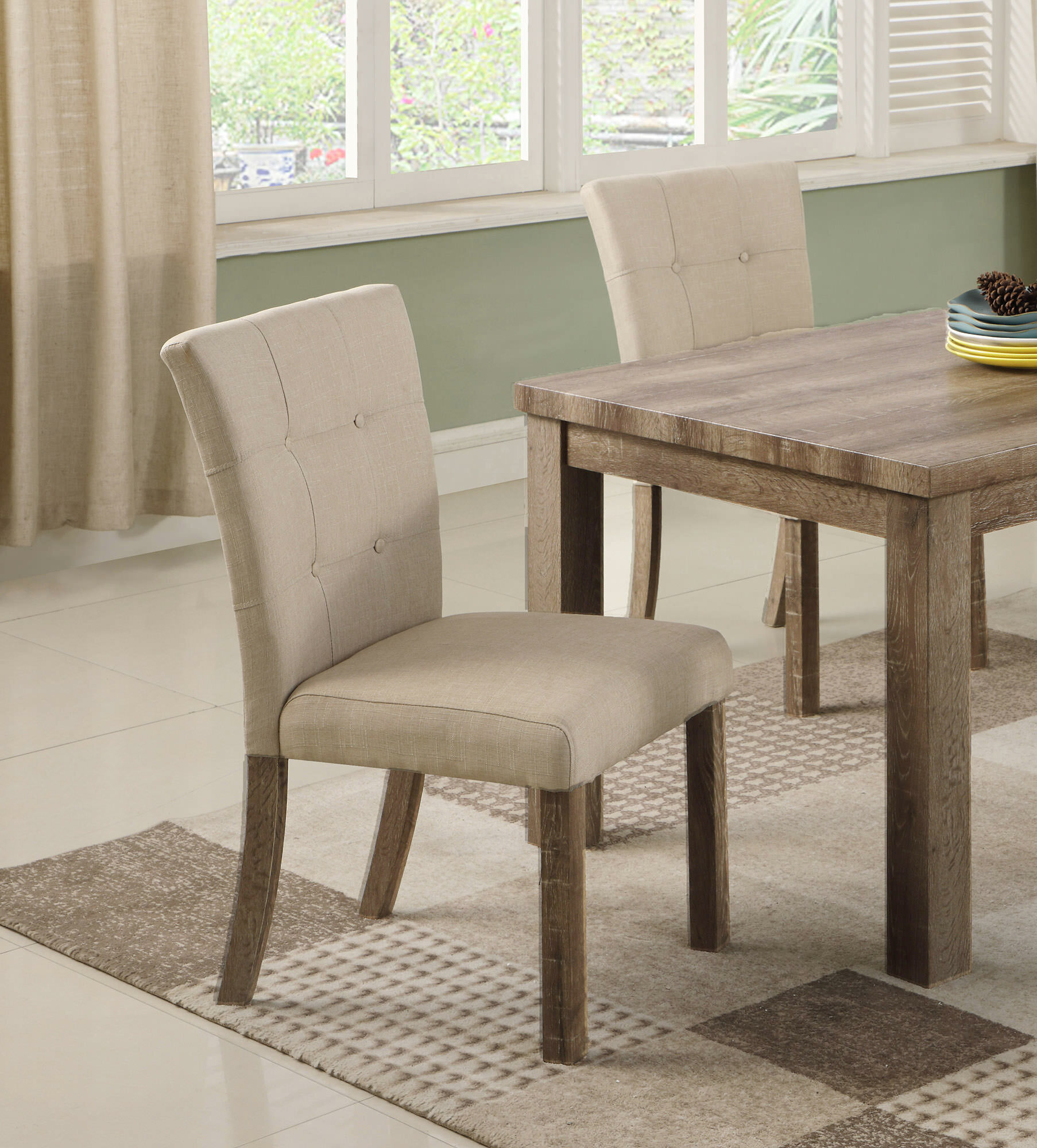 Clanton Upholstered Dining Chair Within Aaliyah Parsons Chairs (View 13 of 15)