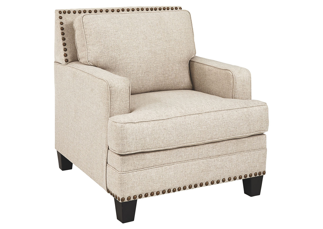 Claredon Linen Chair Ashley Furniture Homestore Singapore Throughout Chiles Linen Side Chairs (View 11 of 15)