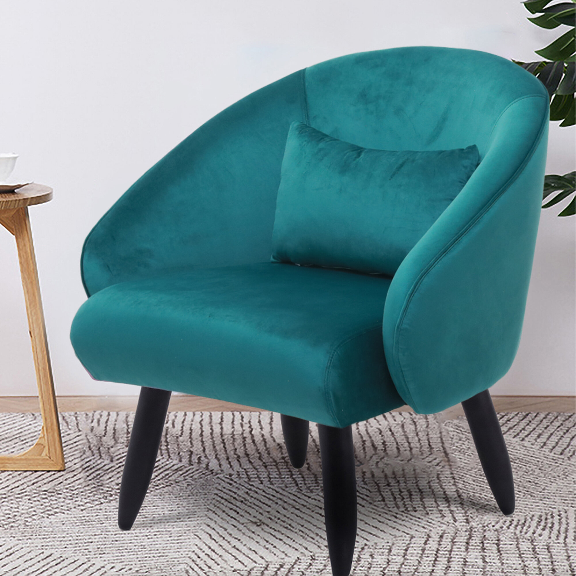 Featured Image of Claudel Polyester Blend Barrel Chairs