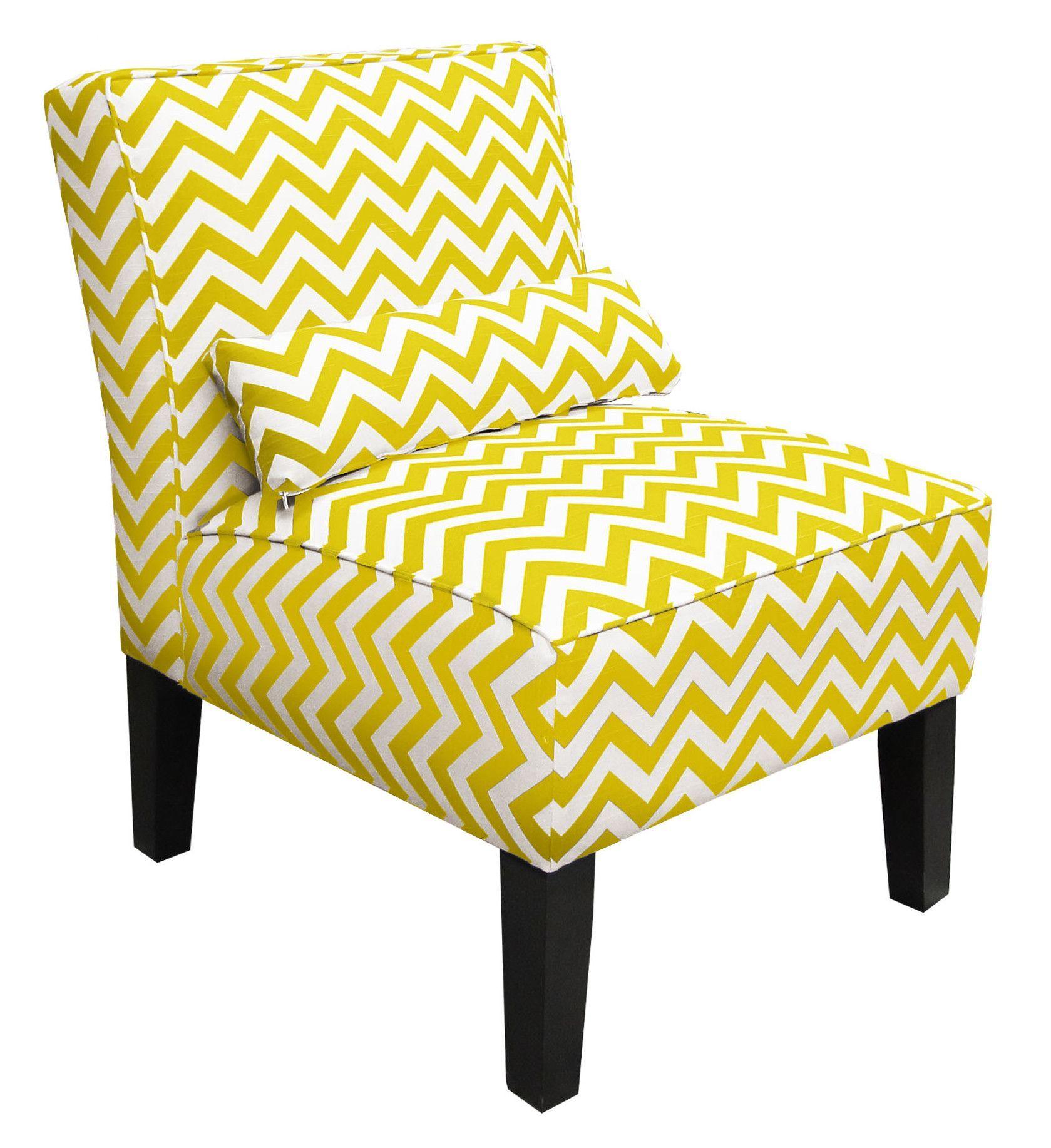 Cloverdale Upholstered Slipper Chair | Chevron Accent Chairs Inside Armless Upholstered Slipper Chairs (View 6 of 15)