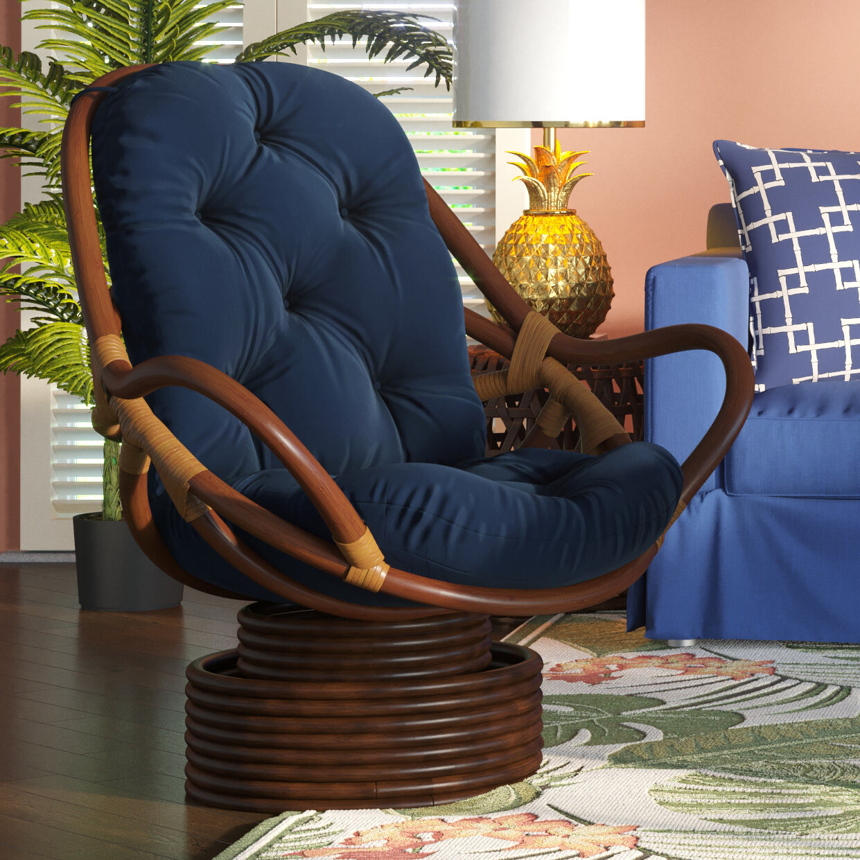 Coastal Papasan Accent Chairs You'Ll Love In 2021 | Wayfair Within Orndorff Tufted Papasan Chairs (View 2 of 15)