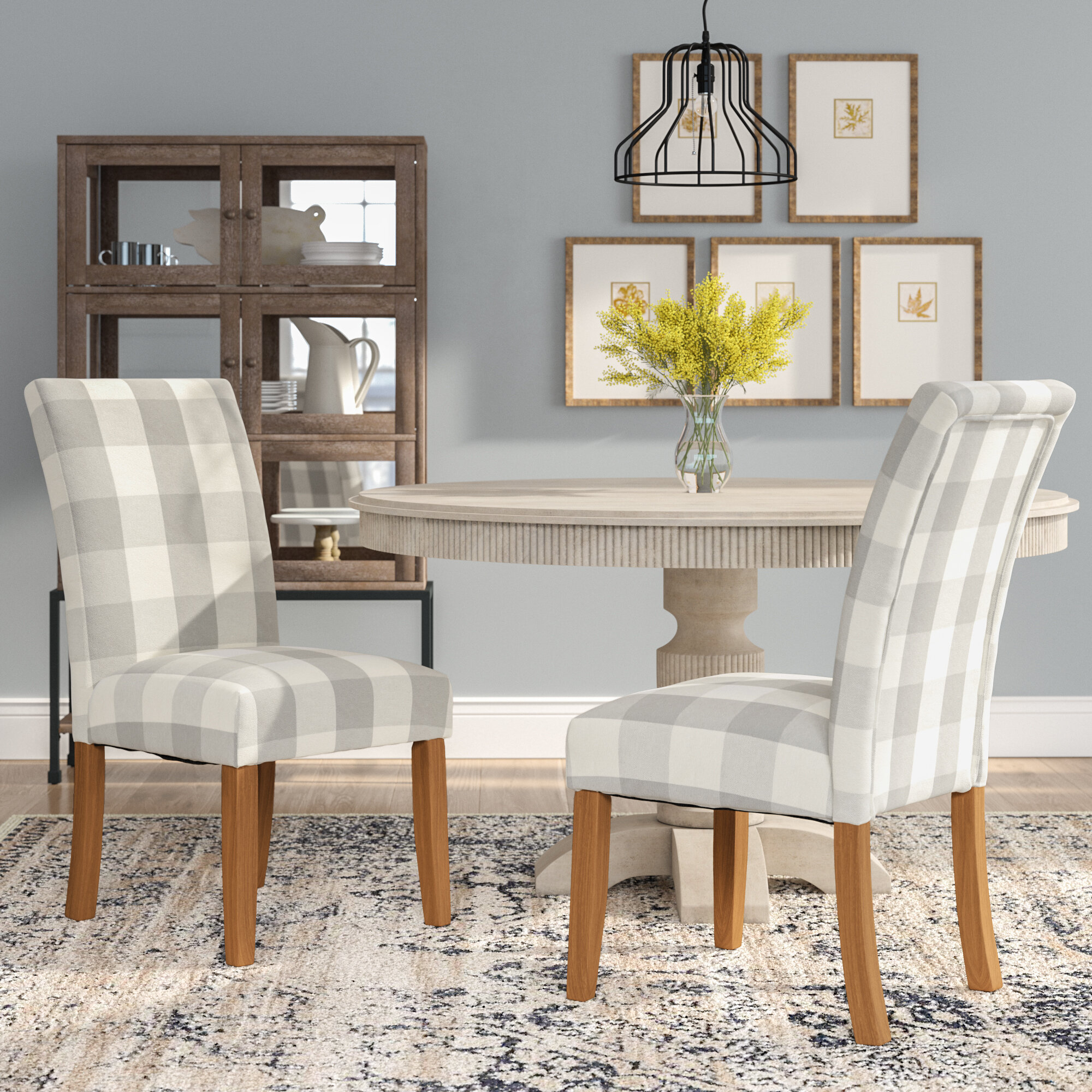 Coastal Parsons Accent Chairs You'Ll Love In 2021 | Wayfair Inside Aime Upholstered Parsons Chairs In Beige (View 6 of 15)