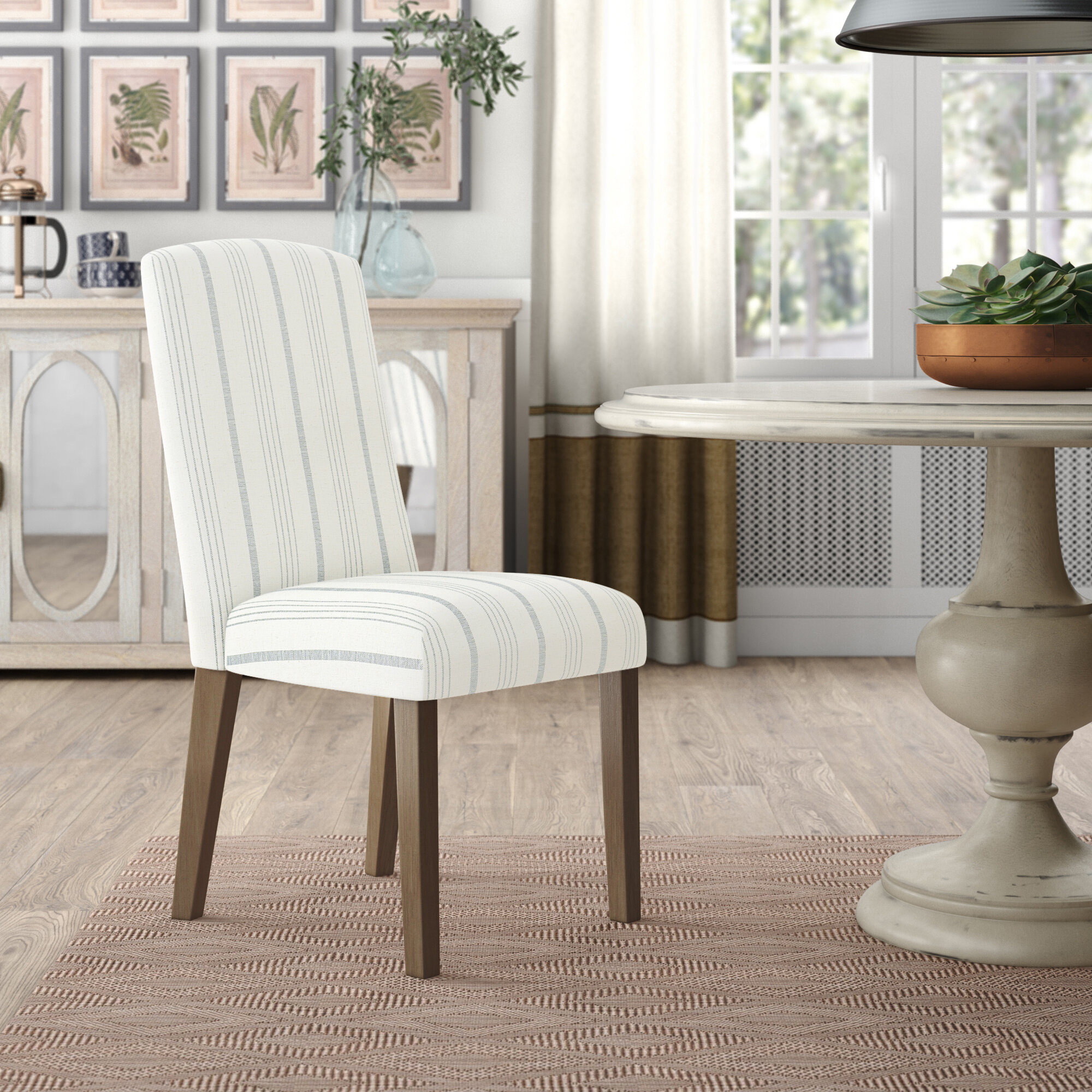 Coastal Upholstered Kitchen & Dining Chairs You'Ll Love In With Regard To Bob Stripe Upholstered Dining Chairs (Set Of 2) (View 6 of 15)