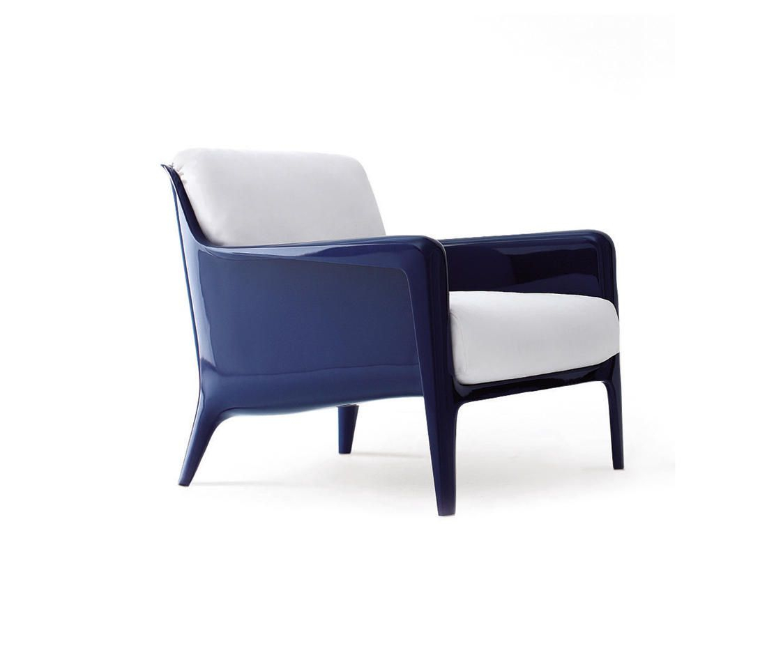 Cocca Armchair – Designer Garden Armchairs From Arflex For Lucea Faux Leather Barrel Chairs And Ottoman (View 14 of 15)