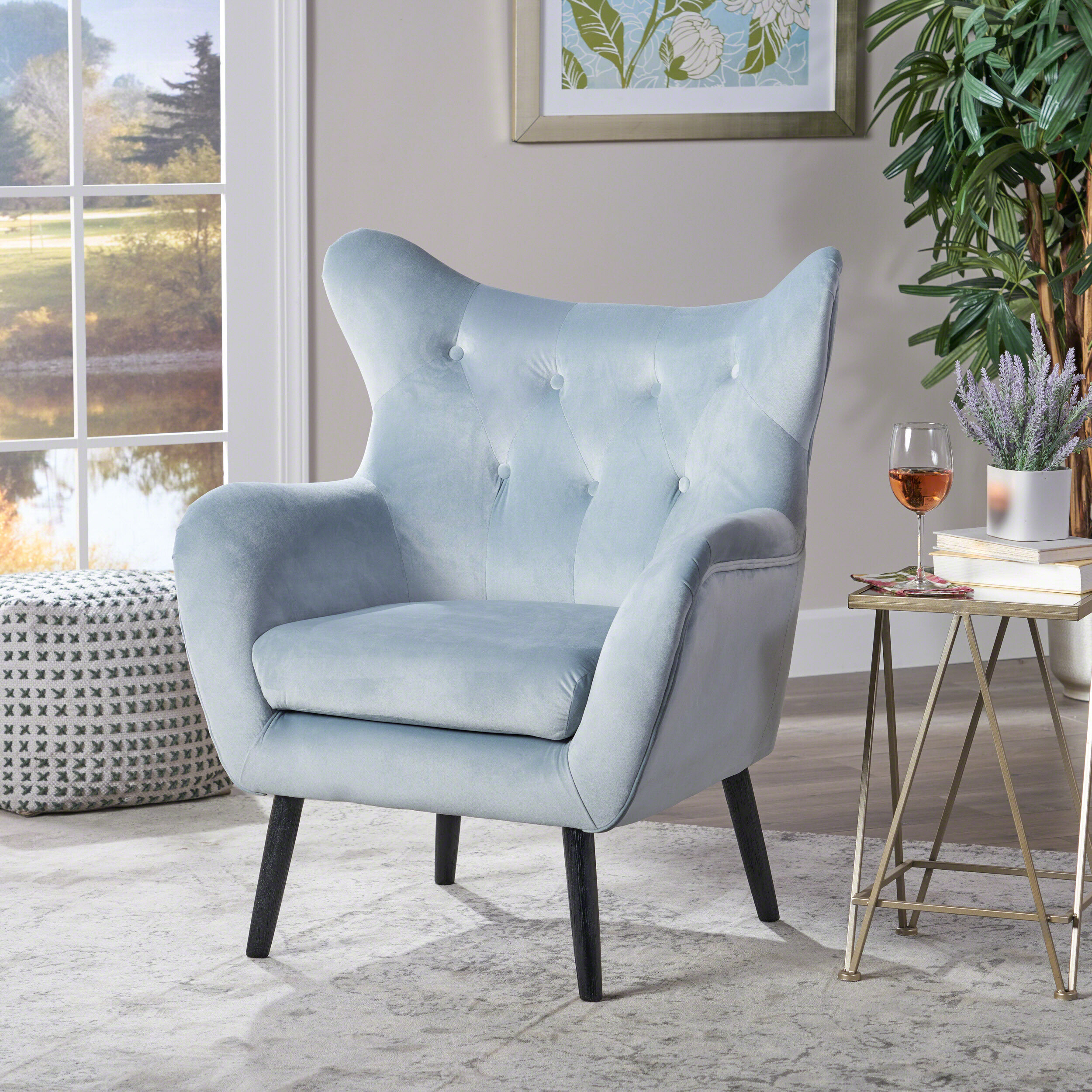 Colletta 21'' Wingback Chair In Bouck Wingback Chairs (View 3 of 15)