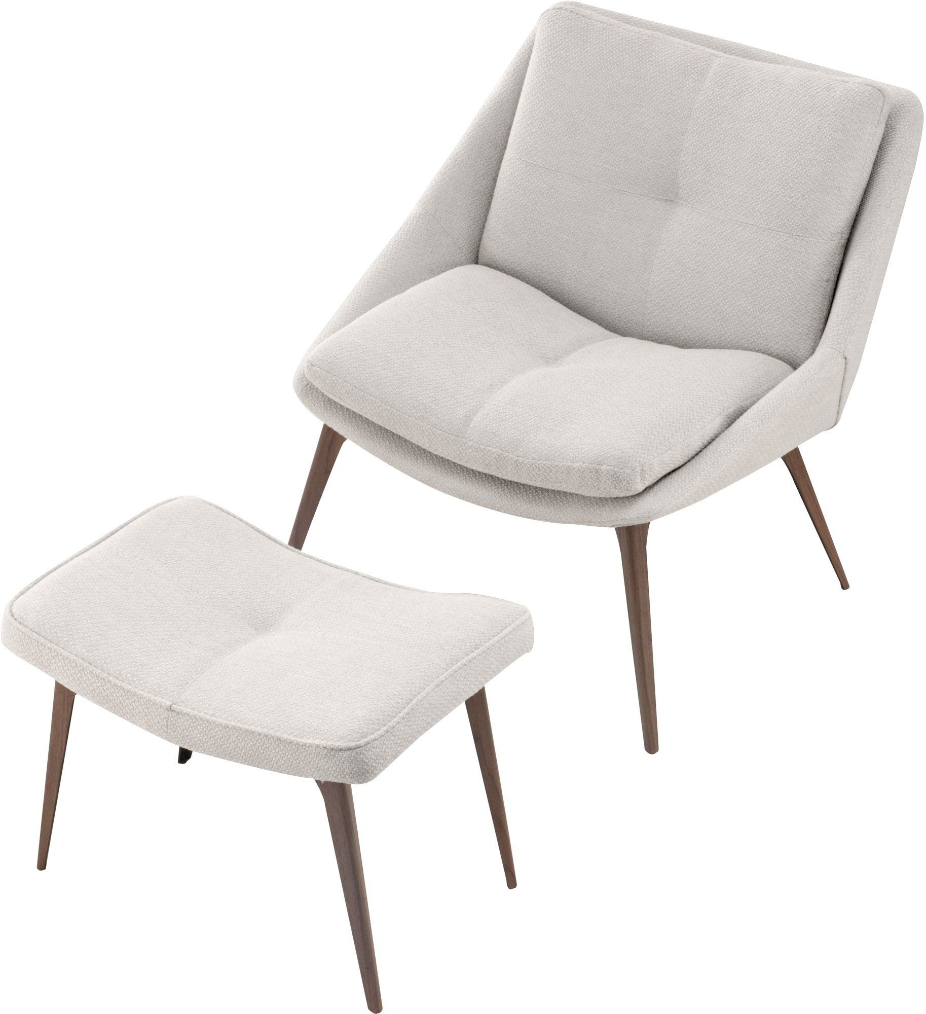 Columbus Lounge Chair And Ottoman In Birch Fabric — France Pertaining To Columbus Armchairs (View 13 of 15)