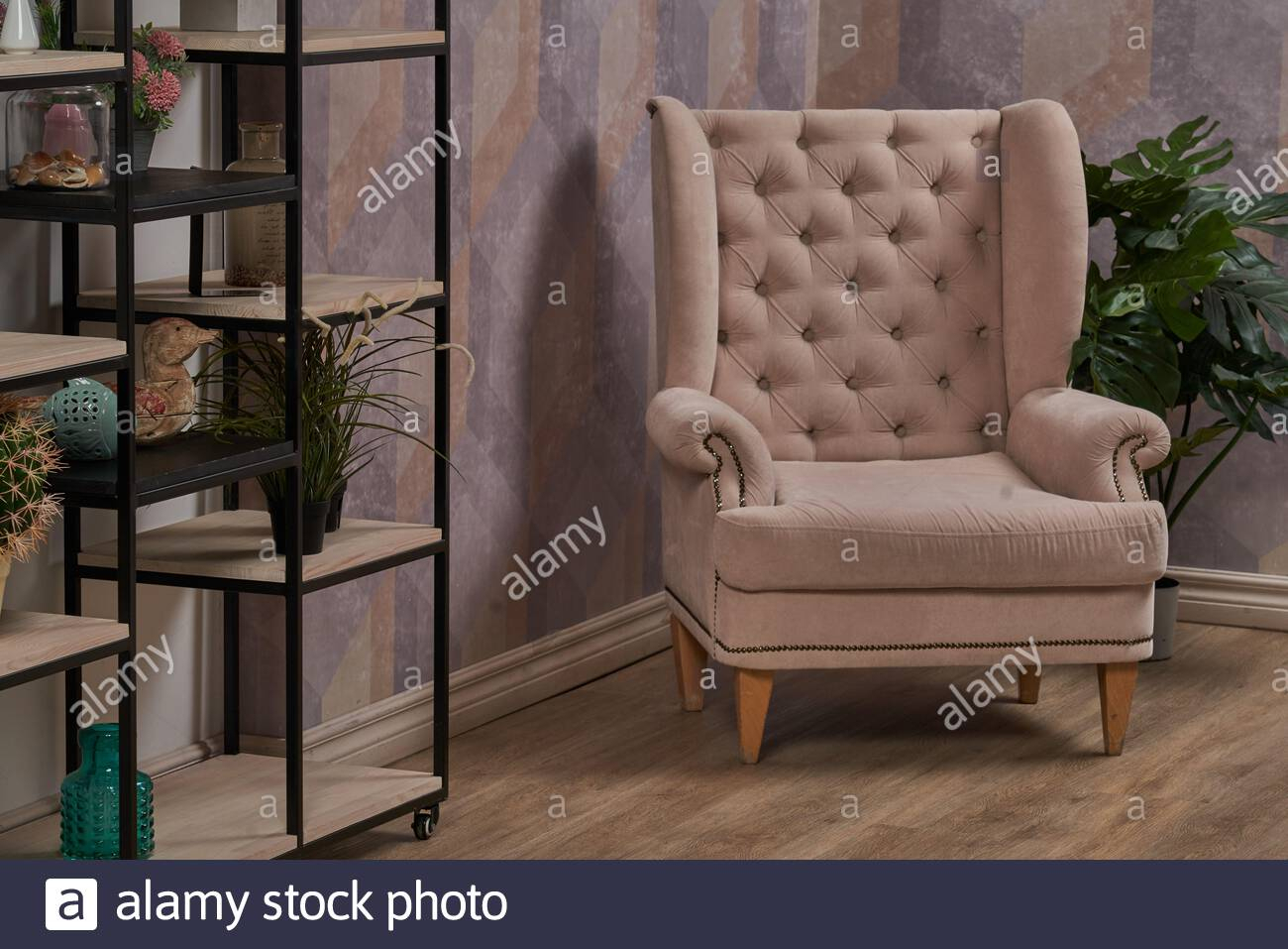 Comfortable Arm Chair In Interior Living Room With Pastel Pertaining To Live It Cozy Armchairs (View 15 of 15)
