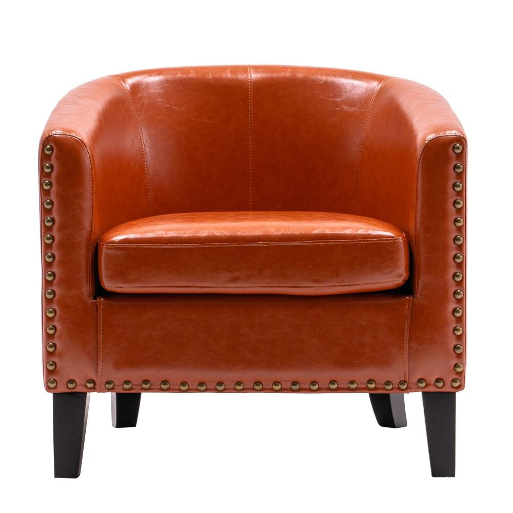 Commercial Use Orange Small Accent Chairs You'Ll Love In Regarding Artressia Barrel Chairs (View 2 of 15)