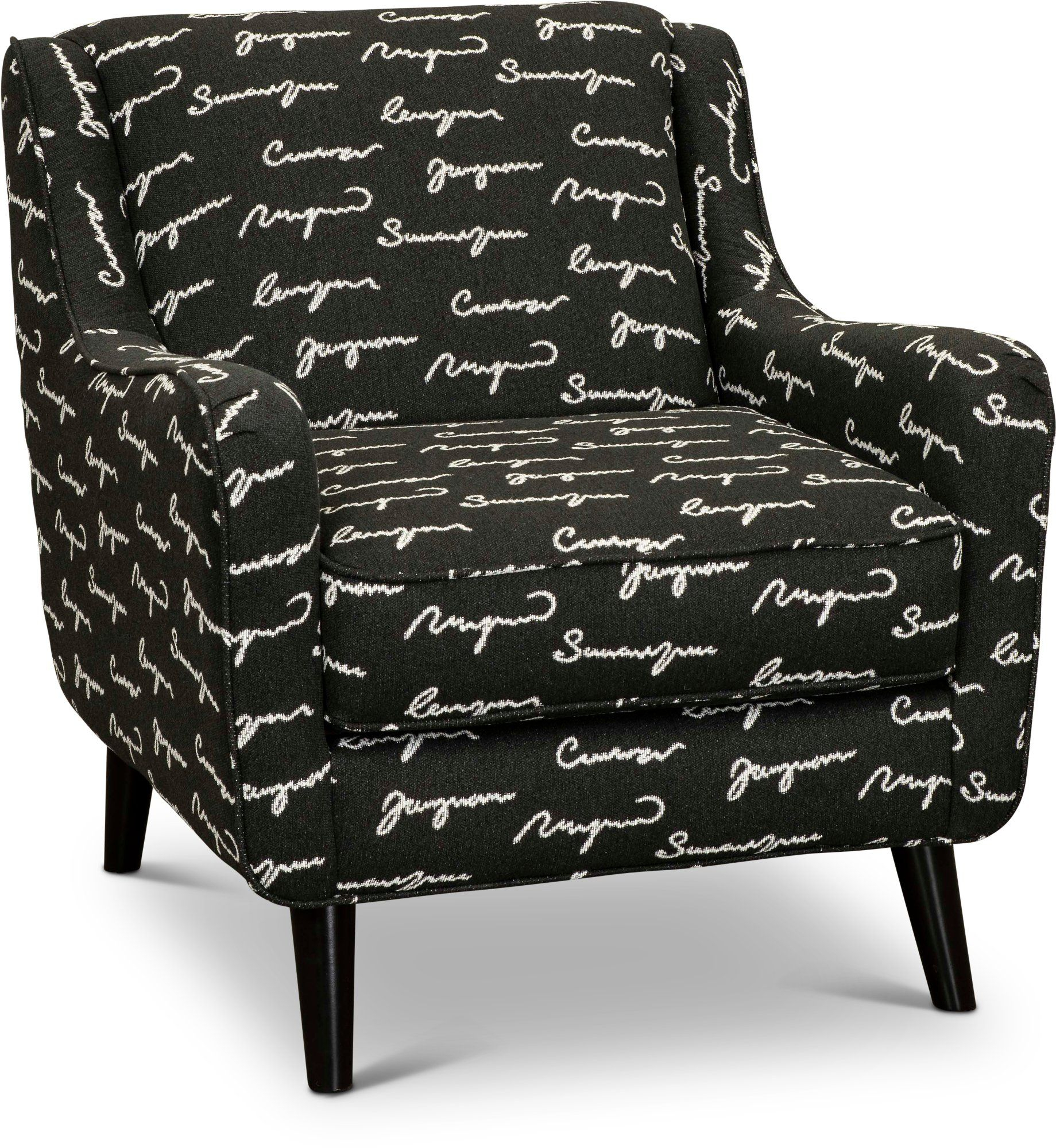 Contemporary Black Accent Chair – Shadowfax | Black Accent In Louisiana Barrel Chairs And Ottoman (View 8 of 15)