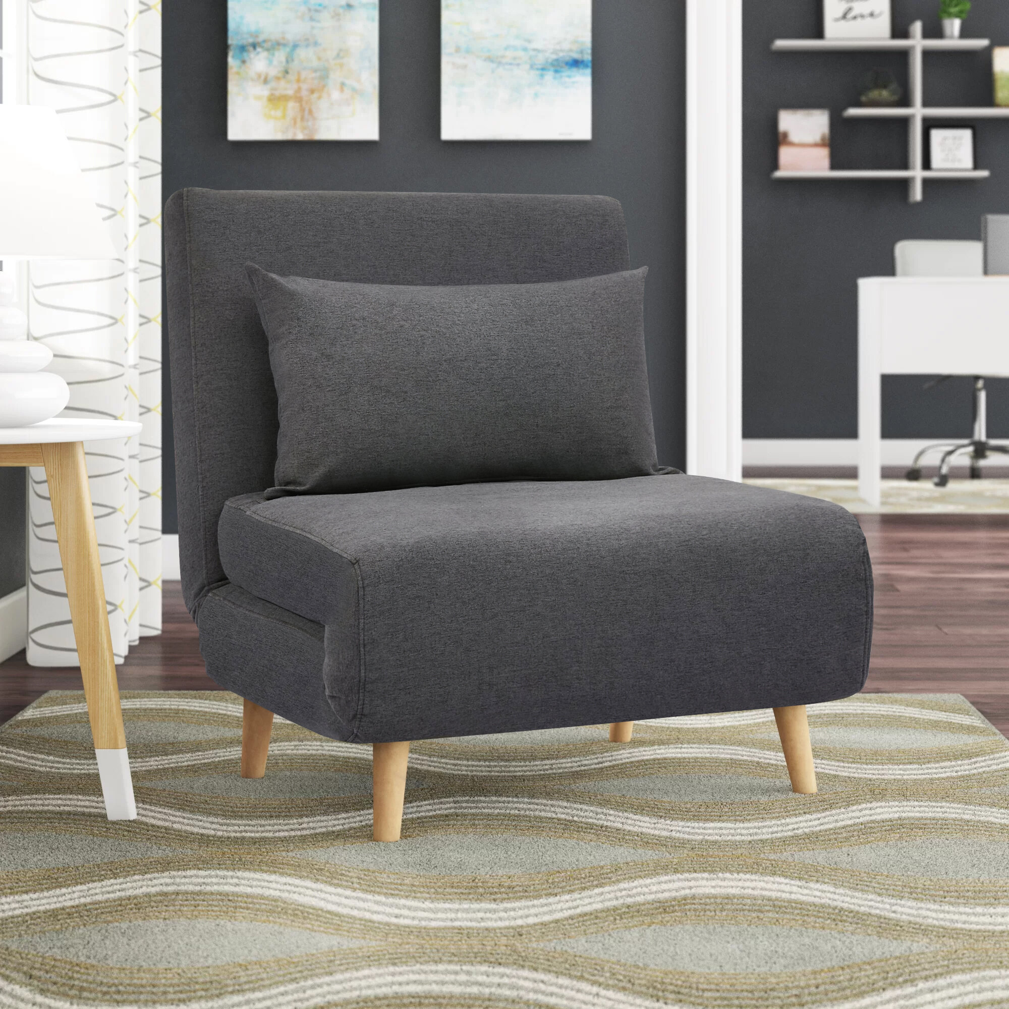 Convertible Chairs | Wayfair In New London Convertible Chairs (View 2 of 15)