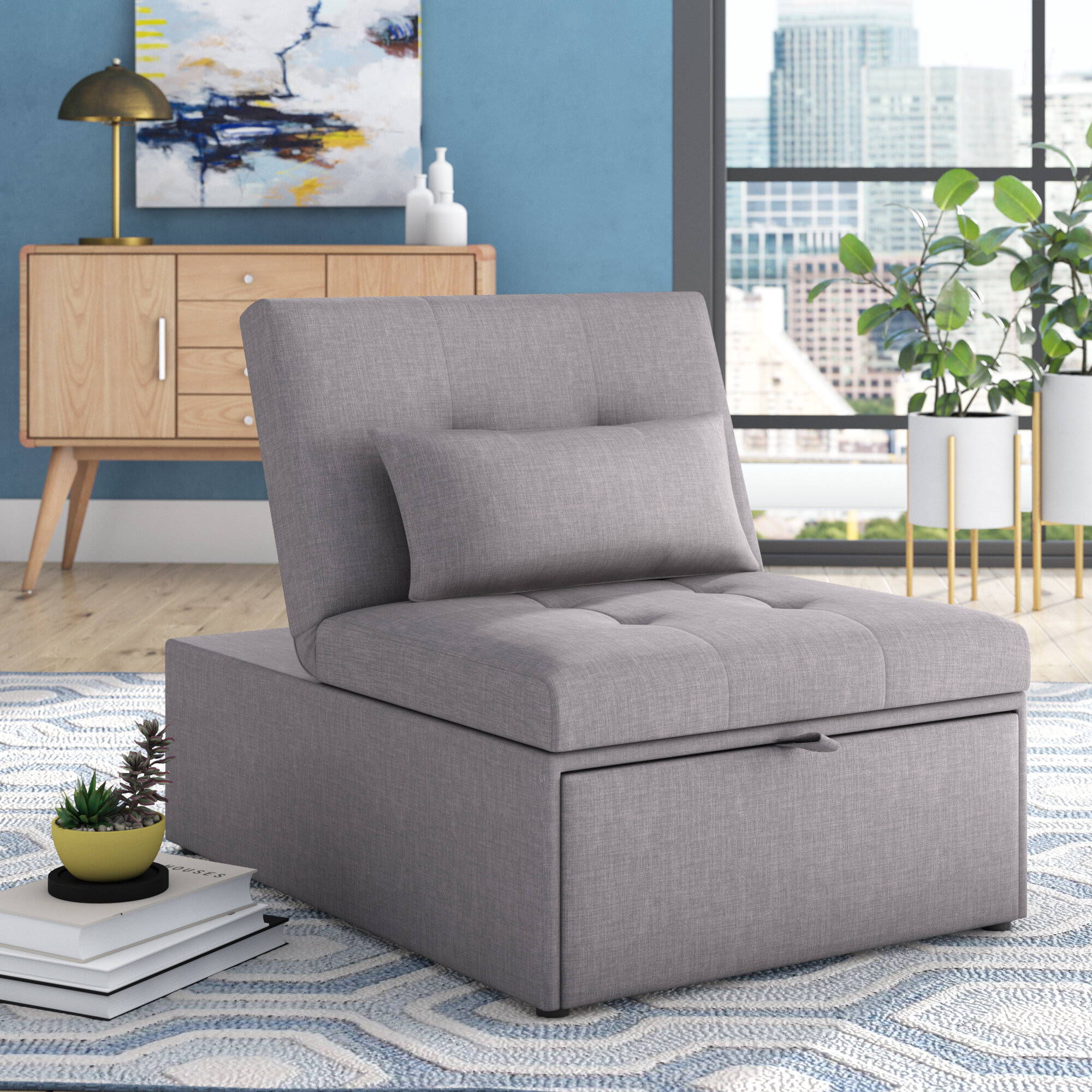 Convertible Chairs | Wayfair With Regard To New London Convertible Chairs (View 5 of 15)