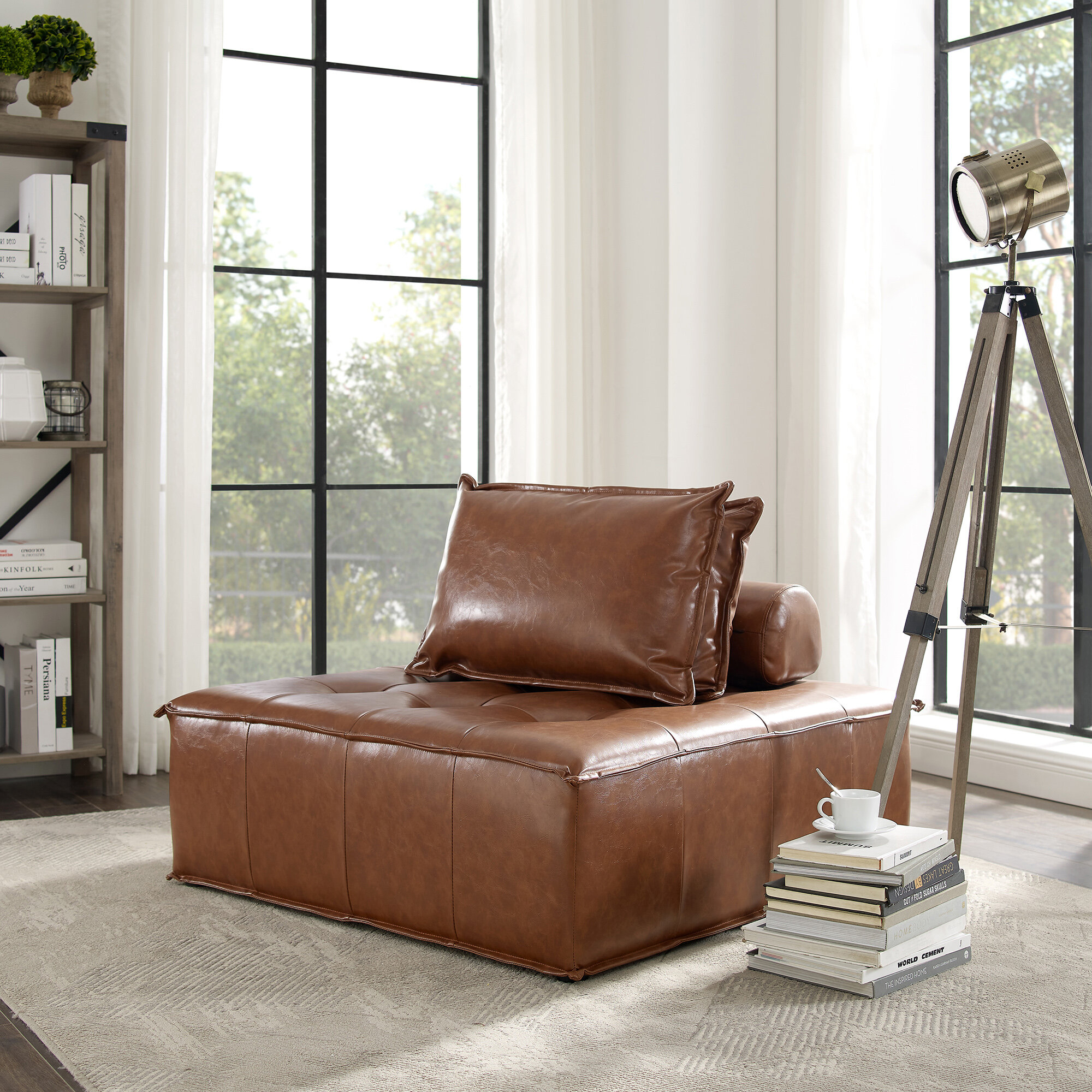 Convertible Solid Accent Chairs You'Ll Love In 2020 Regarding Perz Tufted Faux Leather Convertible Chairs (View 7 of 15)