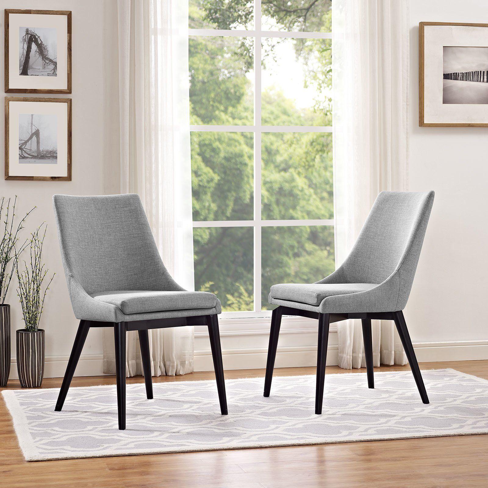 Corrigan Studio Carlton Wood Leg Upholstered Dining Chair Intended For Carlton Wood Leg Upholstered Dining Chairs (View 3 of 15)