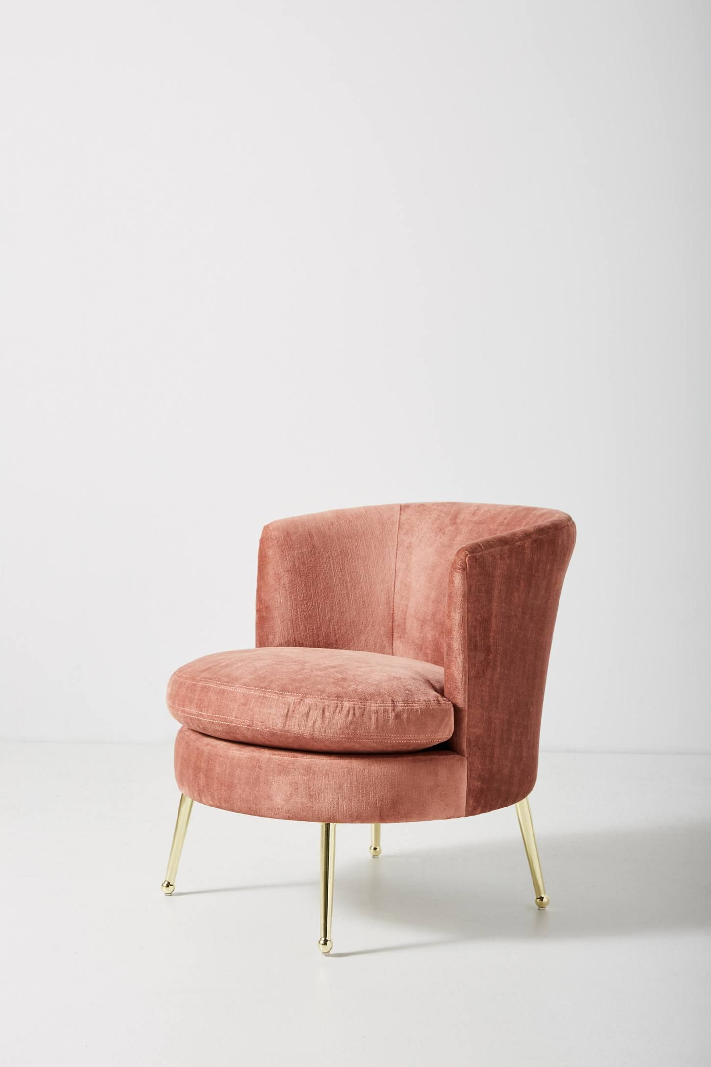 Cynthia Petite Accent Chair | Accent Chairs, Patio Chair With Regard To Easterling Velvet Slipper Chairs (View 6 of 15)