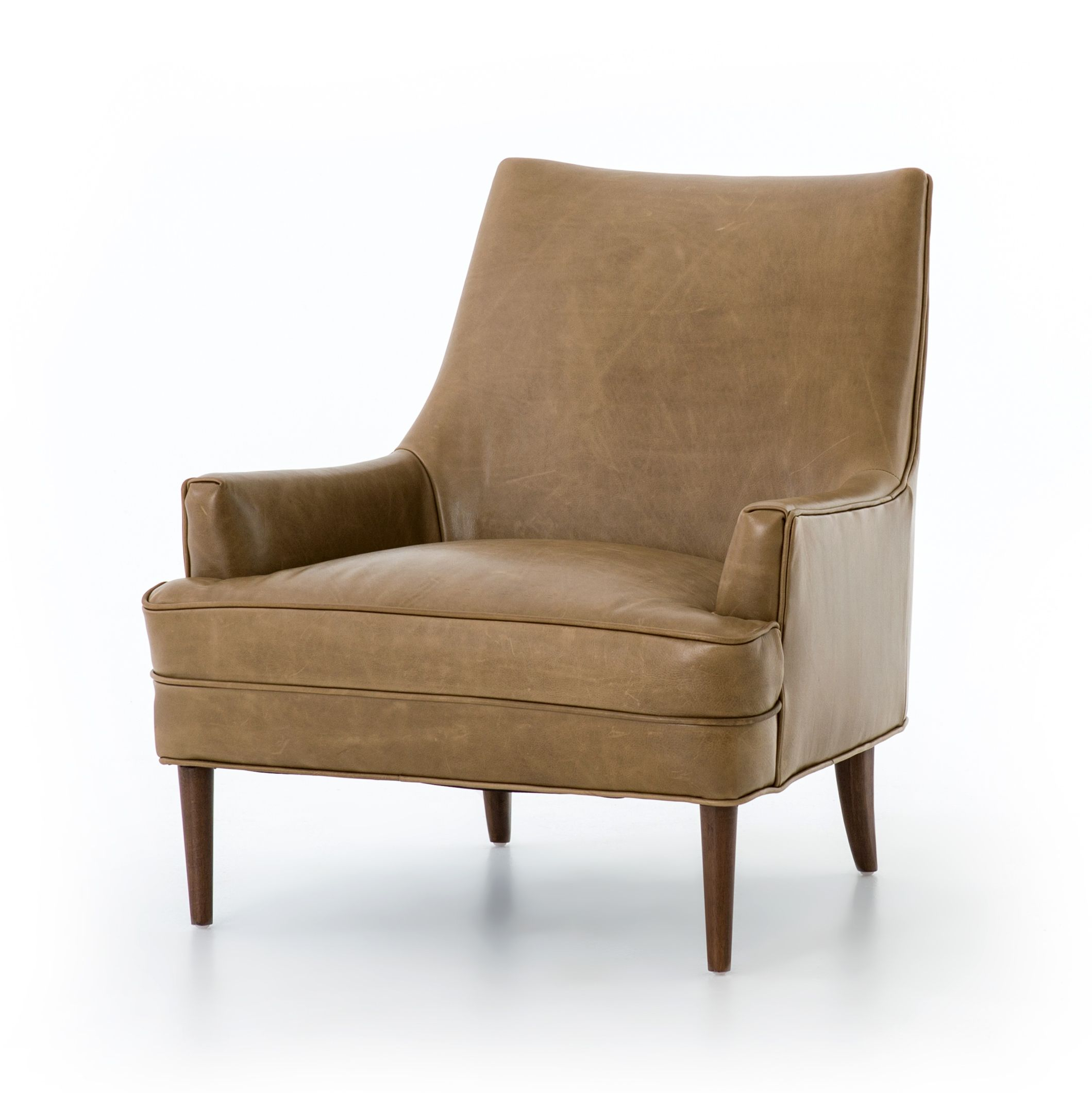 Danya Chair | Leather Armchair, Leather Accent Chair Intended For Marisa Faux Leather Wingback Chairs (View 9 of 15)
