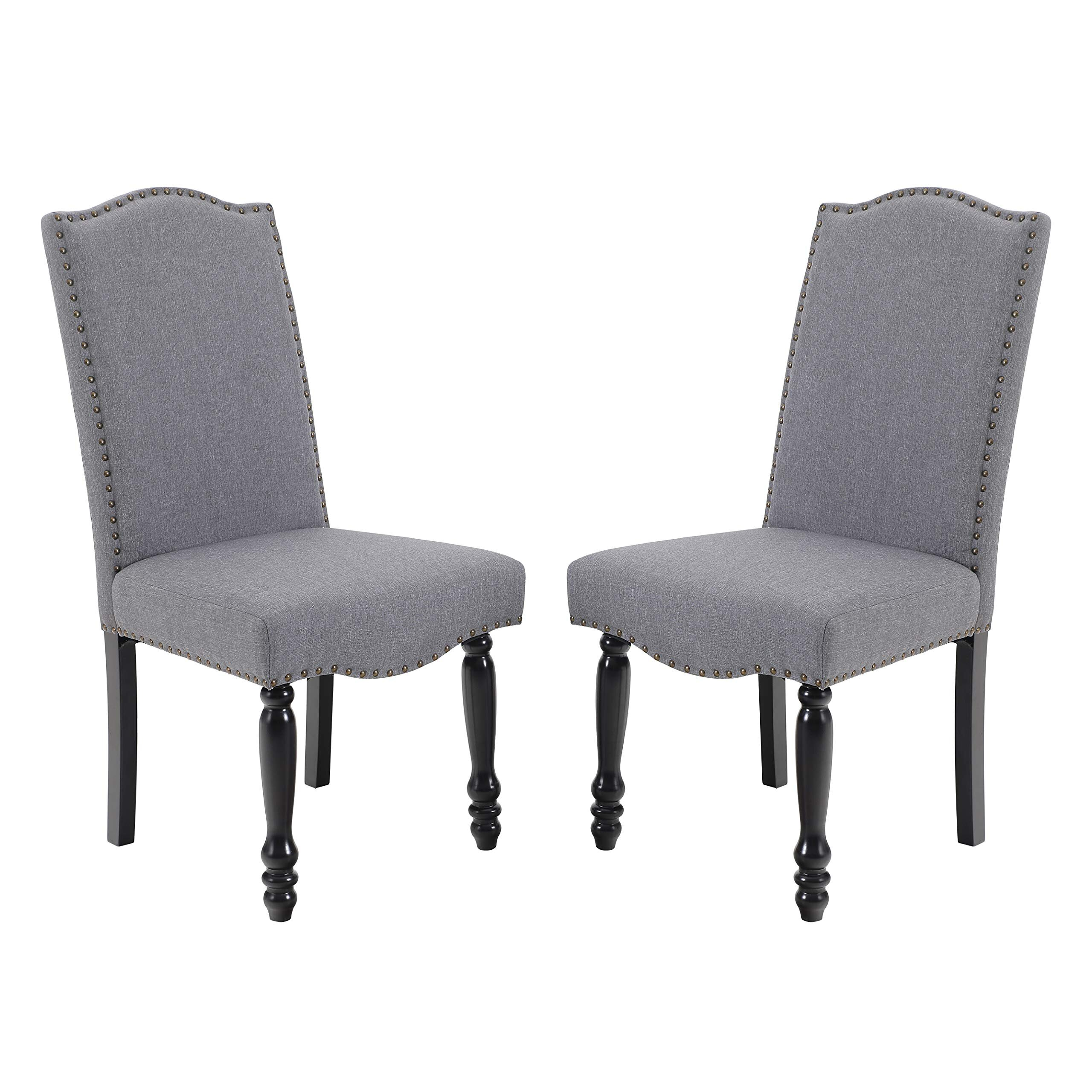 Dark Gray Side Accent Chairs You'Ll Love In 2021 | Wayfair With Madison Avenue Tufted Cotton Upholstered Dining Chairs (Set Of 2) (View 2 of 15)