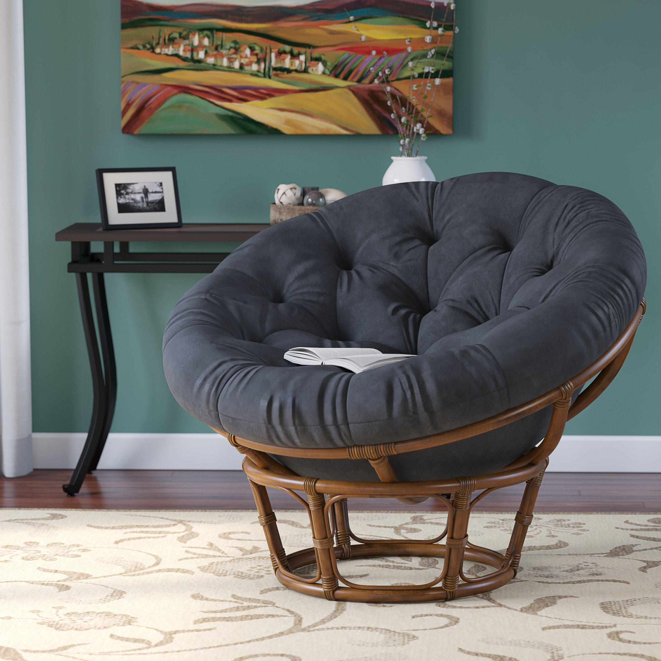 Decker Papasan Chair Intended For Renay Papasan Chairs (View 4 of 15)