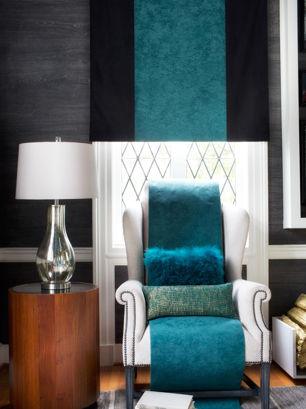 Design Trend: Decorating With Blue | Eclectic Living Room Throughout Gallin Wingback Chairs (View 9 of 15)