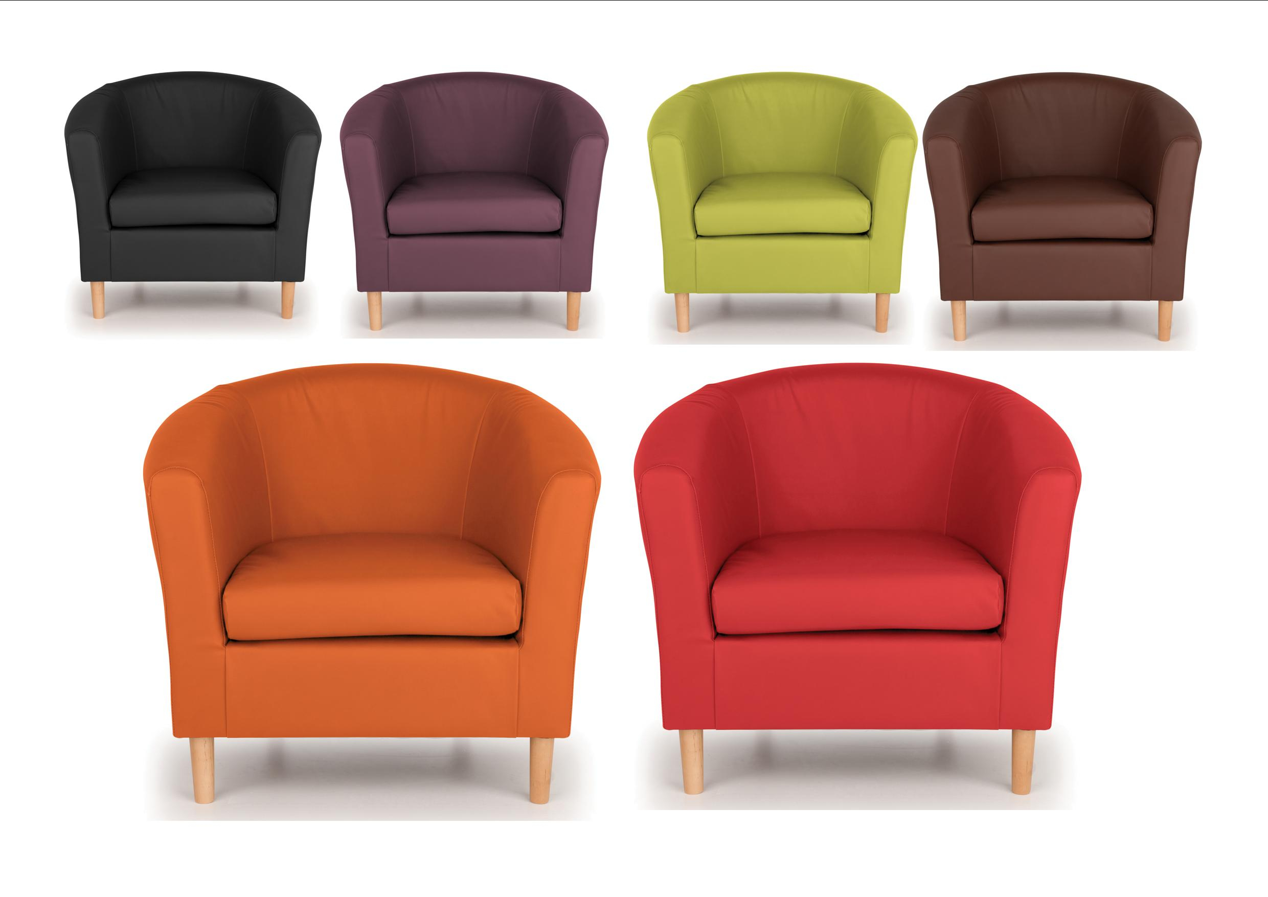 Details About Nicole Tub Chairs – Brown, Black Lime, Orange, Plum, Red –  Modern Design Intended For Montenegro Faux Leather Club Chairs (View 8 of 15)
