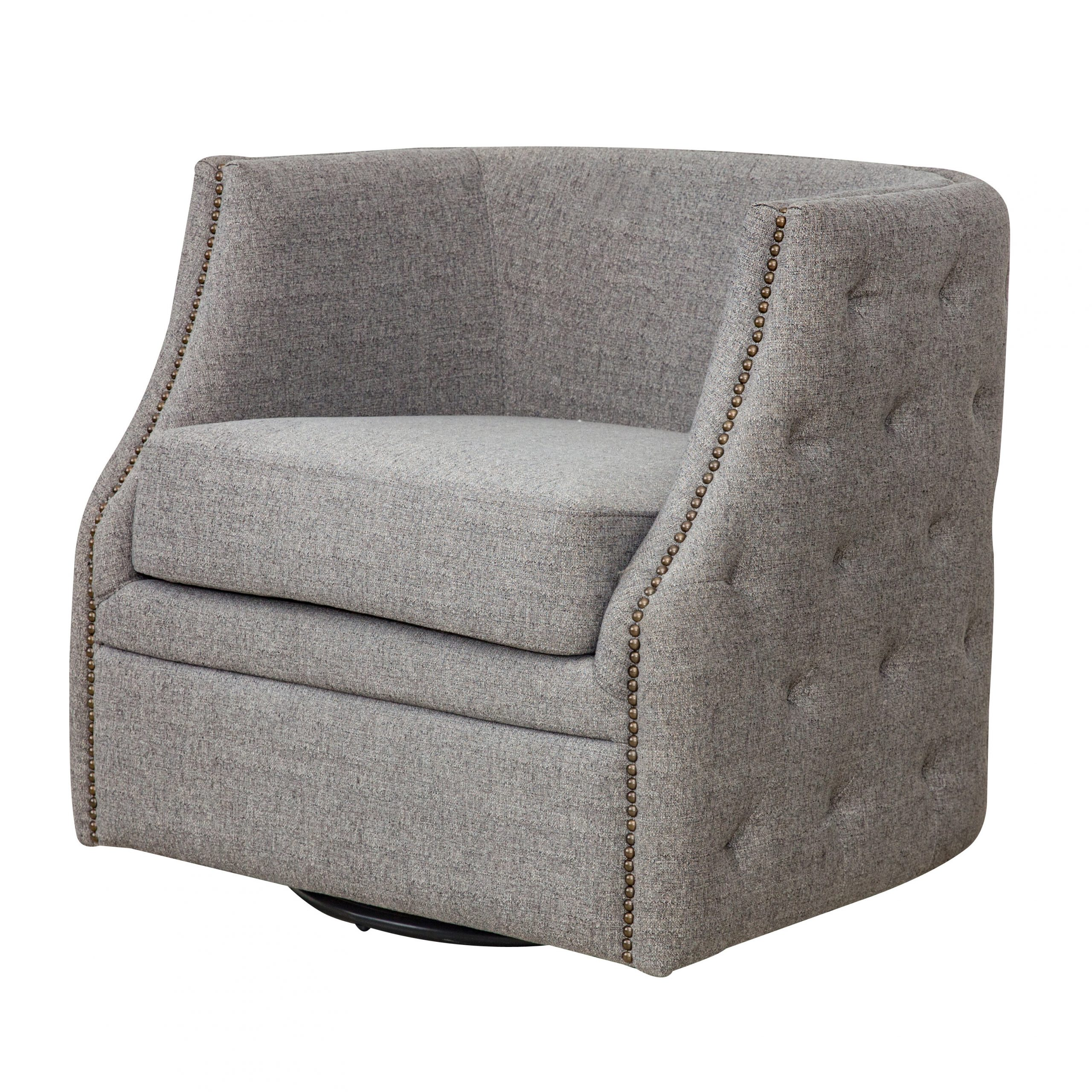 Dichiera Swivel Armchair In Vineland Polyester Swivel Armchairs (View 7 of 15)